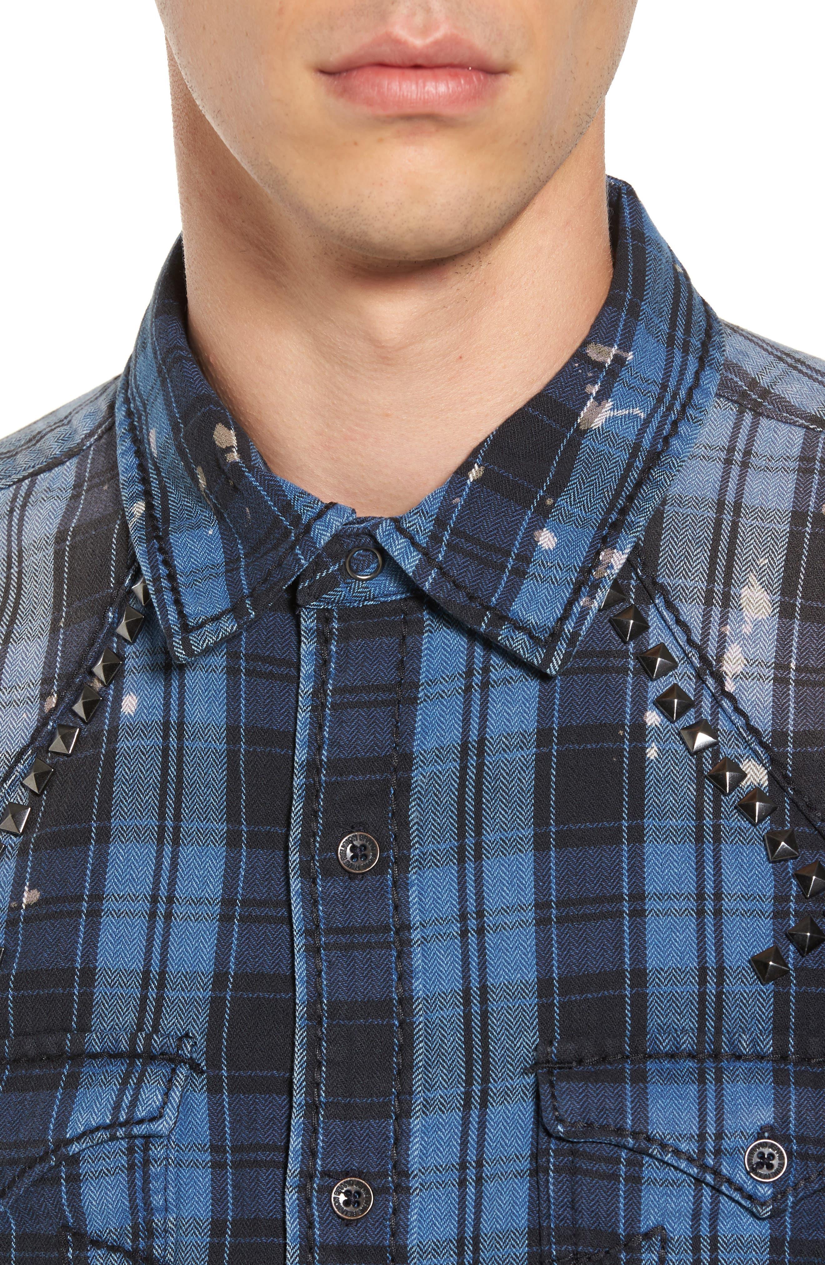 Studded Shirt,                             Alternate thumbnail 4, color,                             400