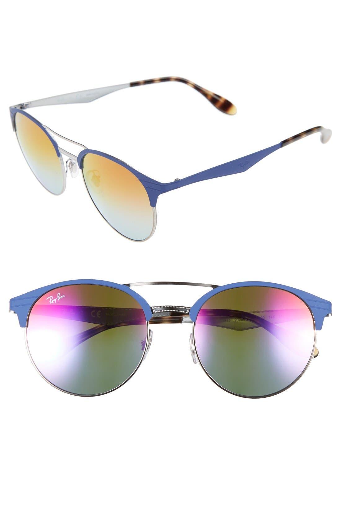 Highstreet 54mm Round Sunglasses,                             Main thumbnail 1, color,                             001