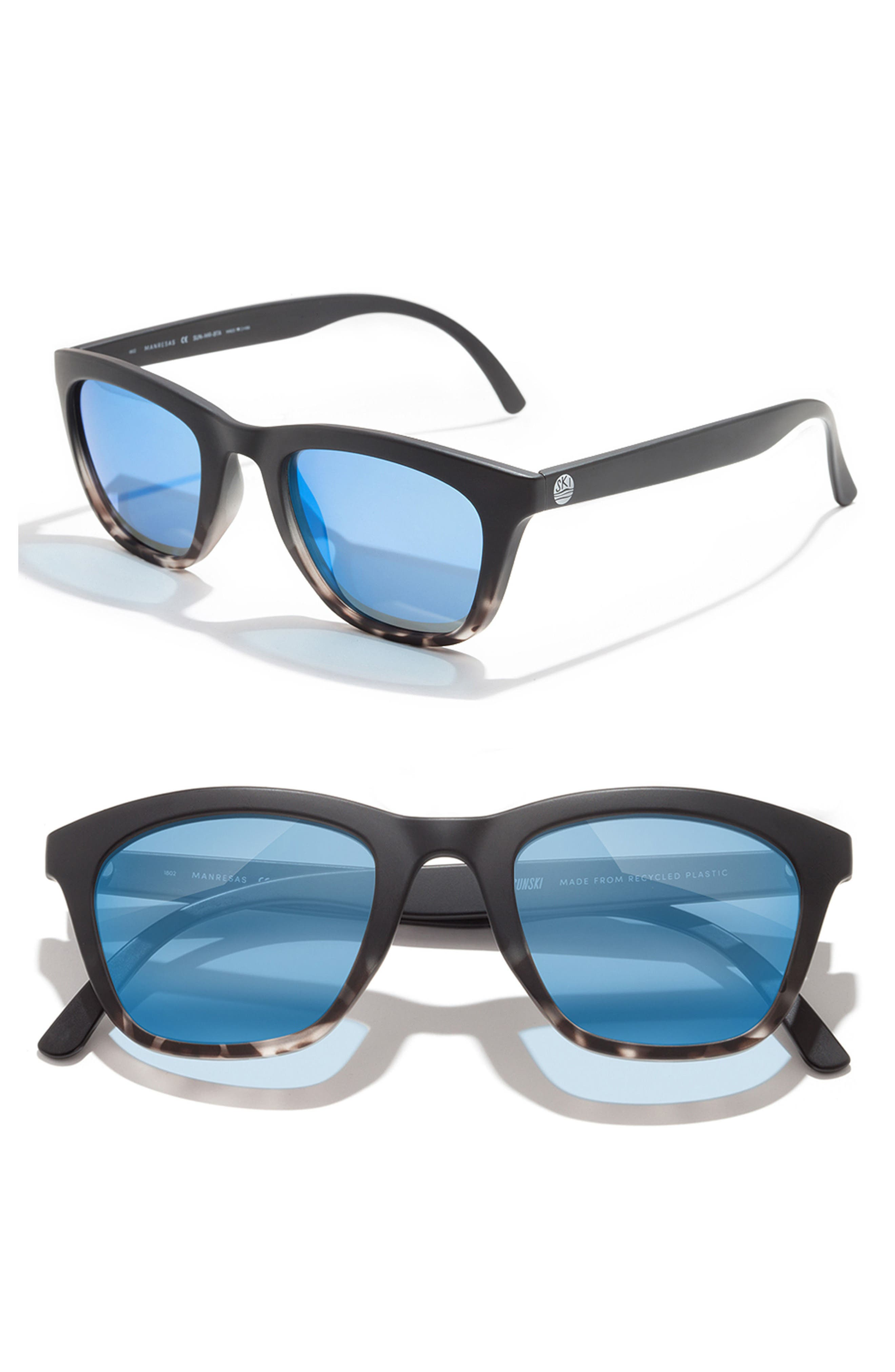Manresa 49mm Polarized Sunglasses,                             Alternate thumbnail 2, color,                             BLACK TORTOISE SLATE