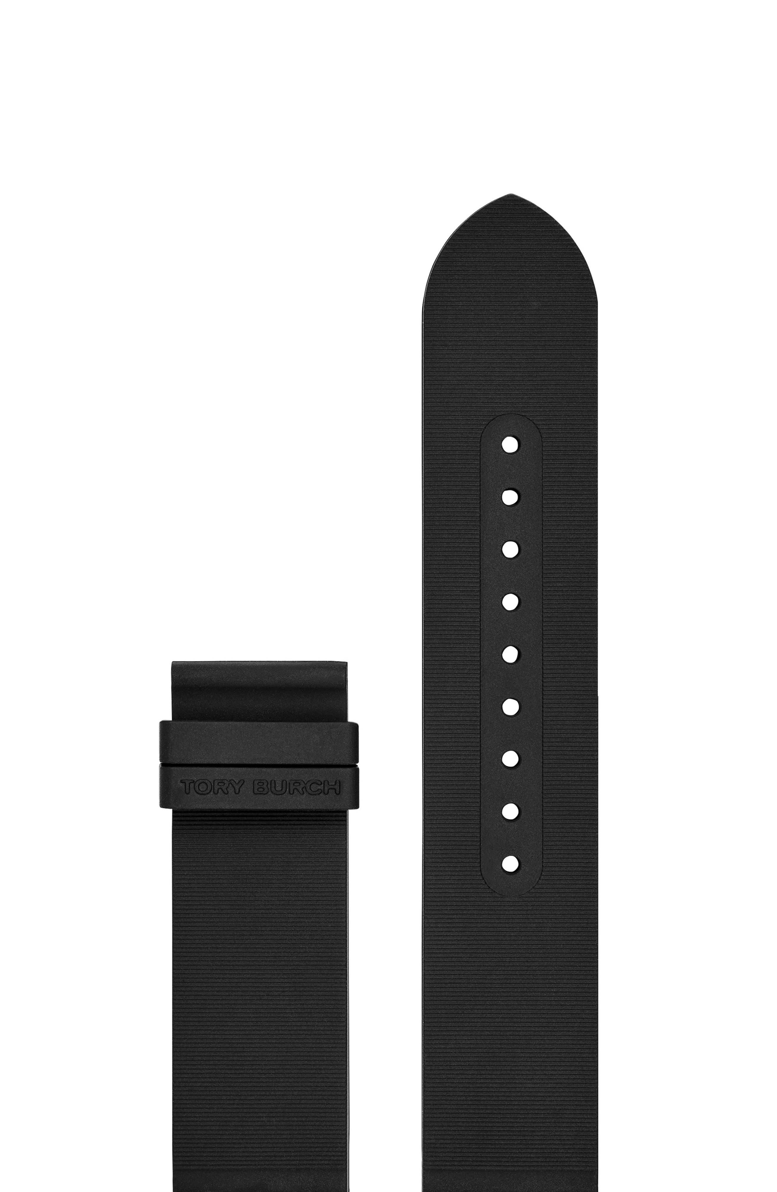 Gigi Touchscreen Smartwatch Strap, Rubber, 20 Mm in Black