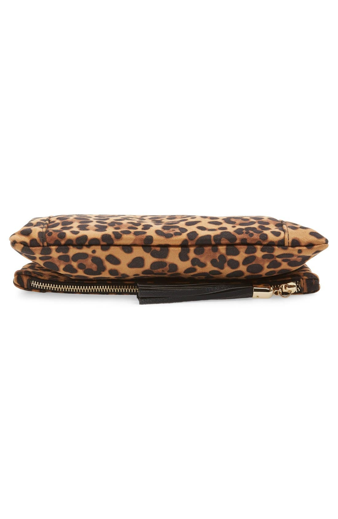'Tasia' Print Foldover Clutch,                             Alternate thumbnail 12, color,