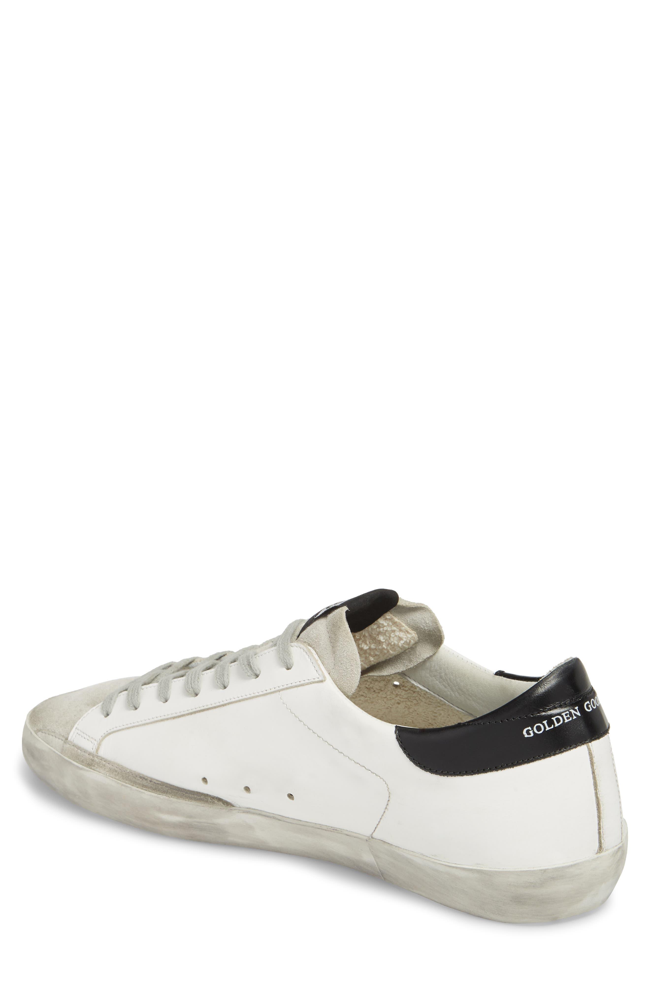 'Superstar' Sneaker,                             Alternate thumbnail 2, color,                             WHITE-BLUE-BLACK