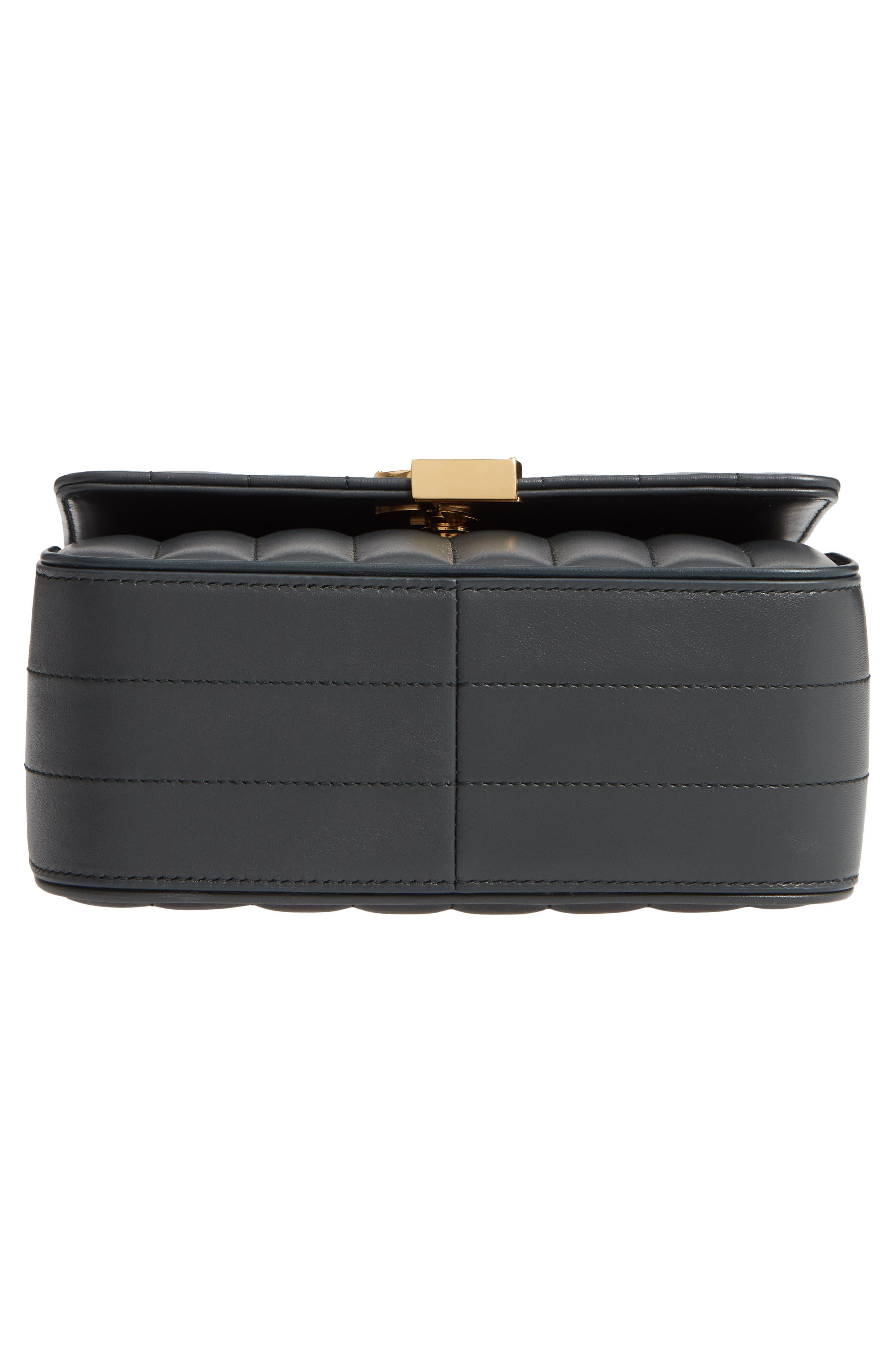 Medium Vicky Leather Crossbody Bag,                             Alternate thumbnail 6, color,                             ALGAE
