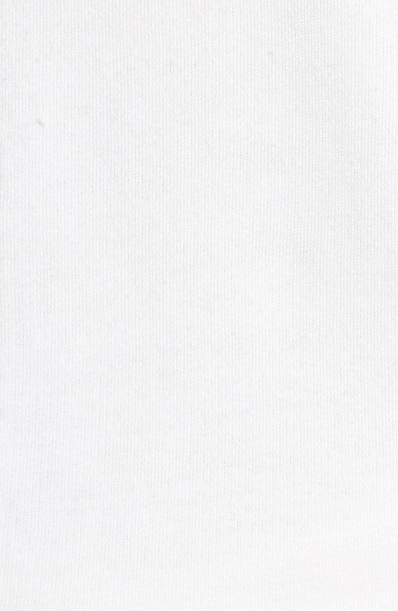 Zip Front Lounge Jumpsuit,                             Alternate thumbnail 5, color,                             WHITE