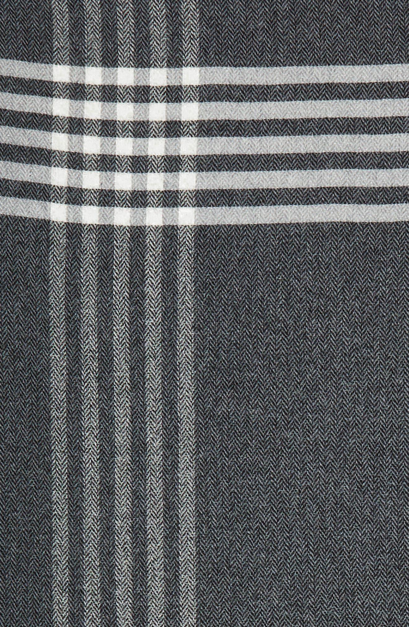 Plaid Wool Blend Scarf,                             Alternate thumbnail 4, color,                             021