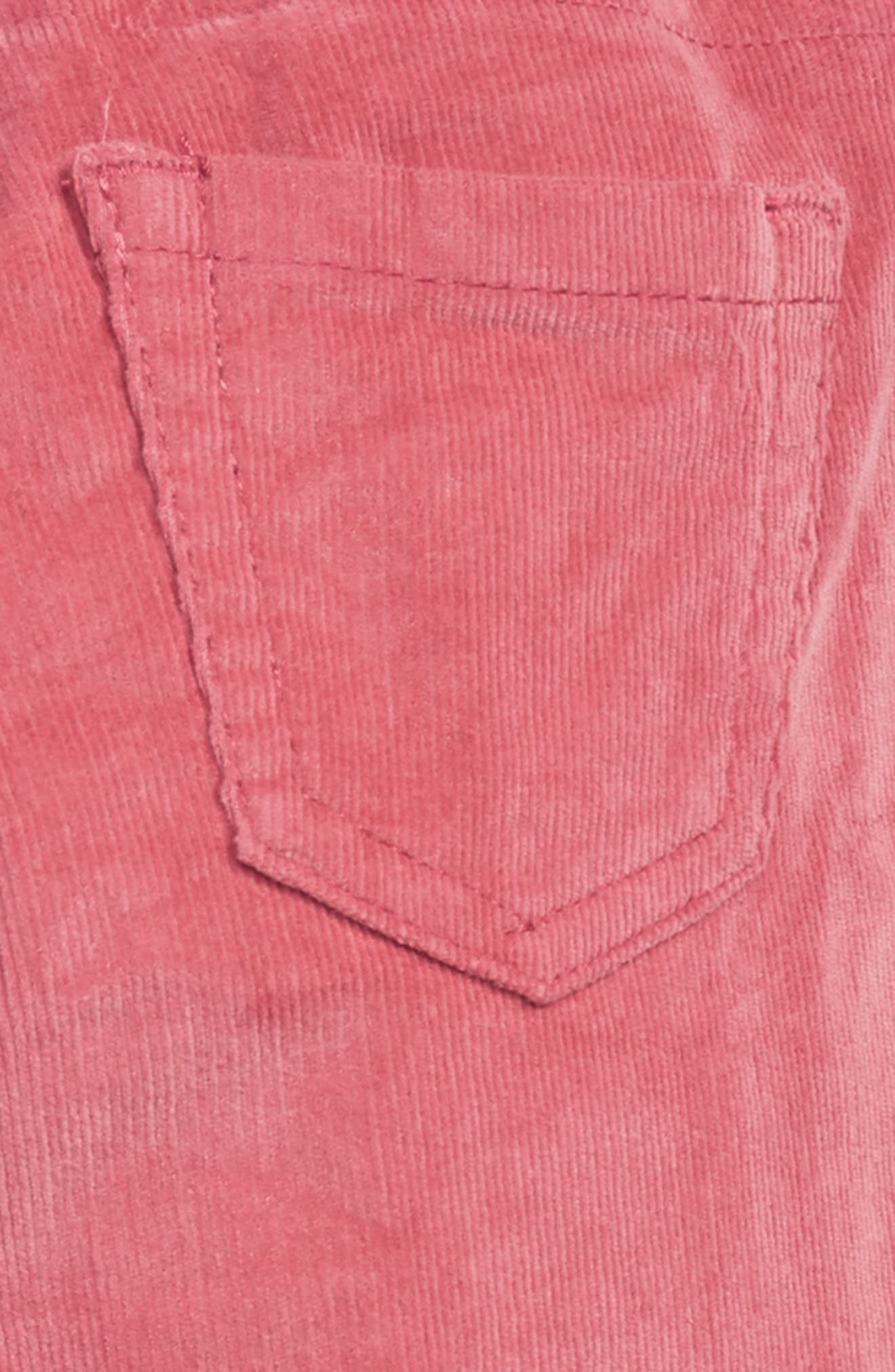Corduroy Leggings,                             Alternate thumbnail 3, color,                             ROSE PINK