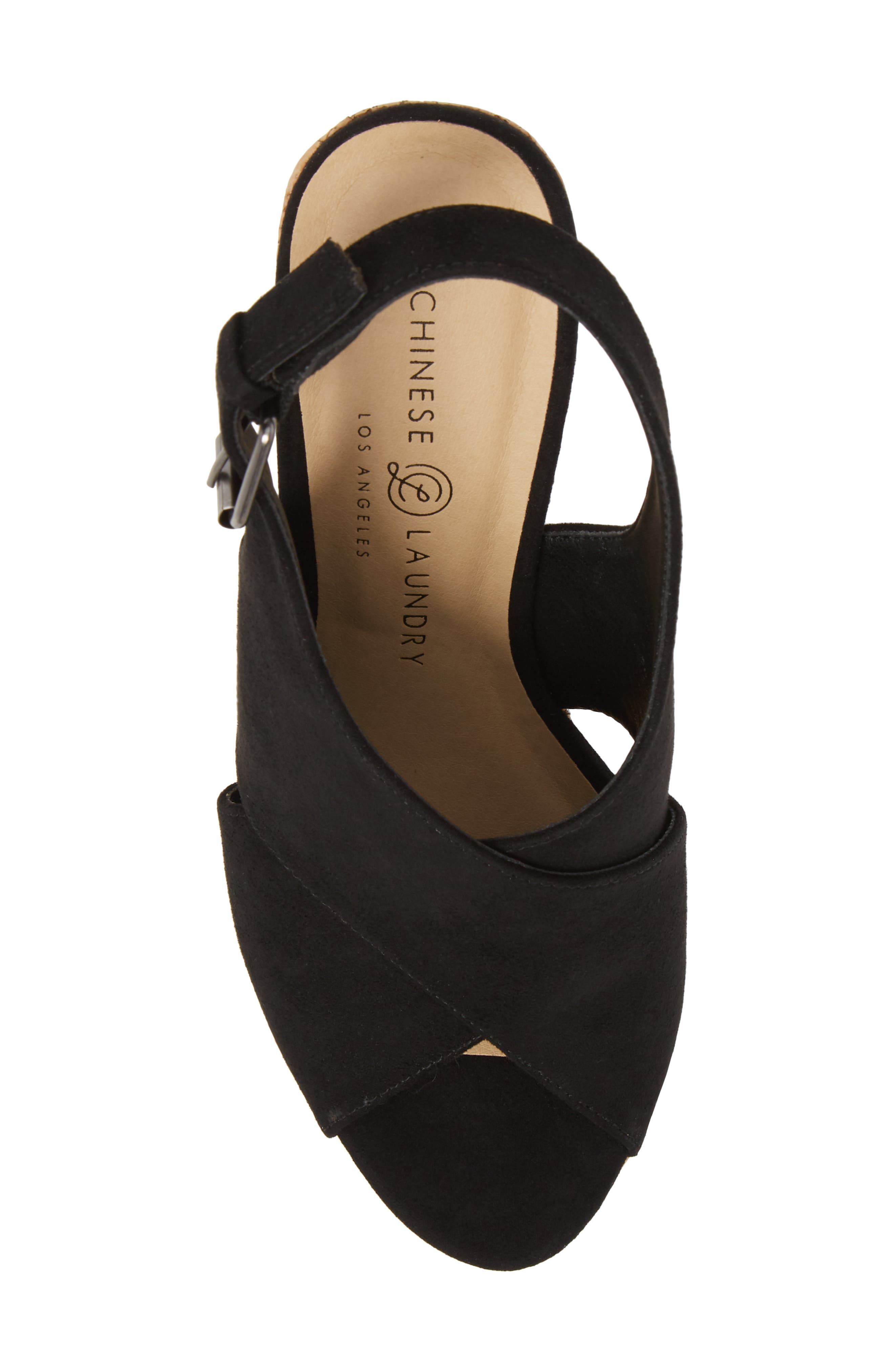 Myya Slingback Wedge Sandal,                             Alternate thumbnail 5, color,                             BLACK