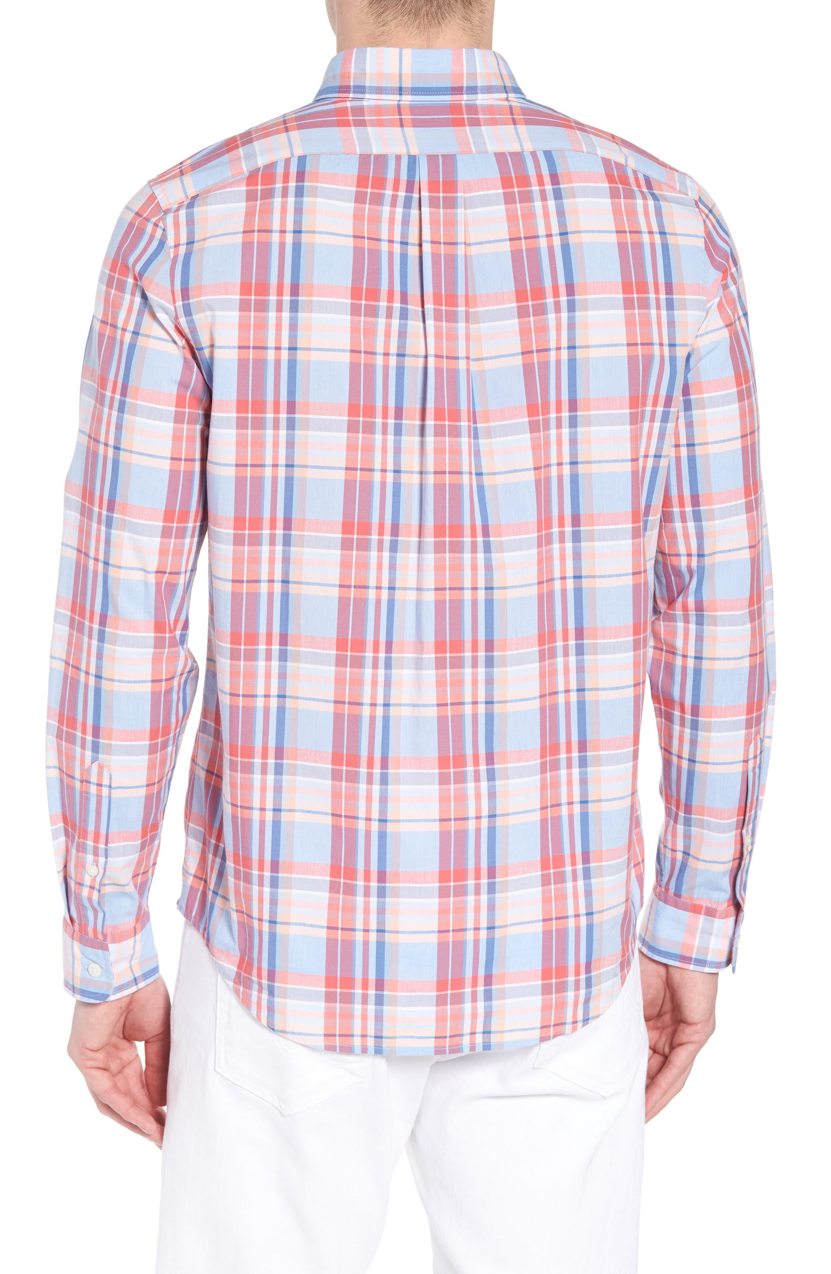 Fox Town Slim Fit Plaid Sport Shirt,                             Alternate thumbnail 2, color,                             628