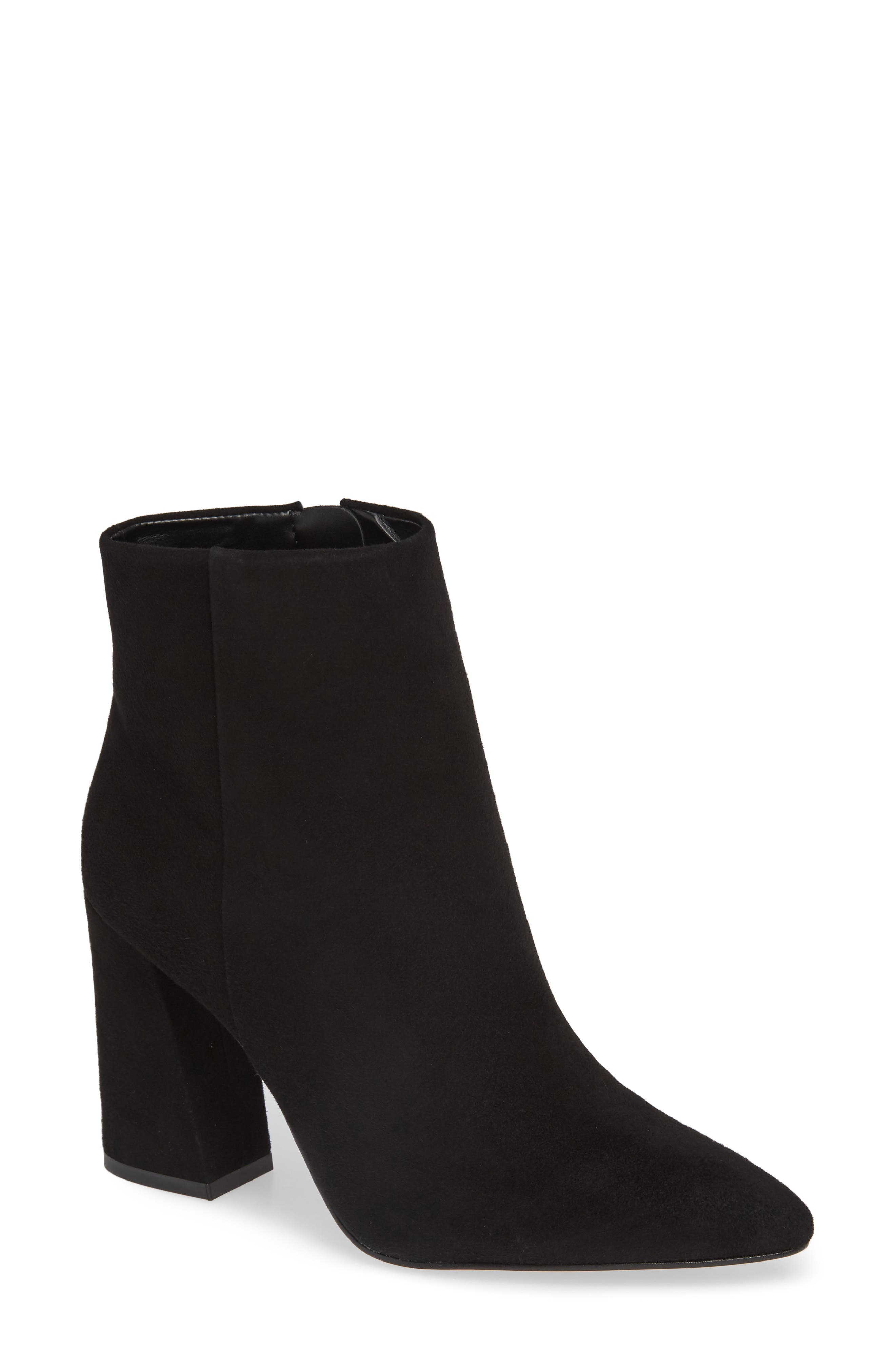 VINCE CAMUTO,                             Thelmin Genuine Calf Hair Bootie,                             Main thumbnail 1, color,                             003