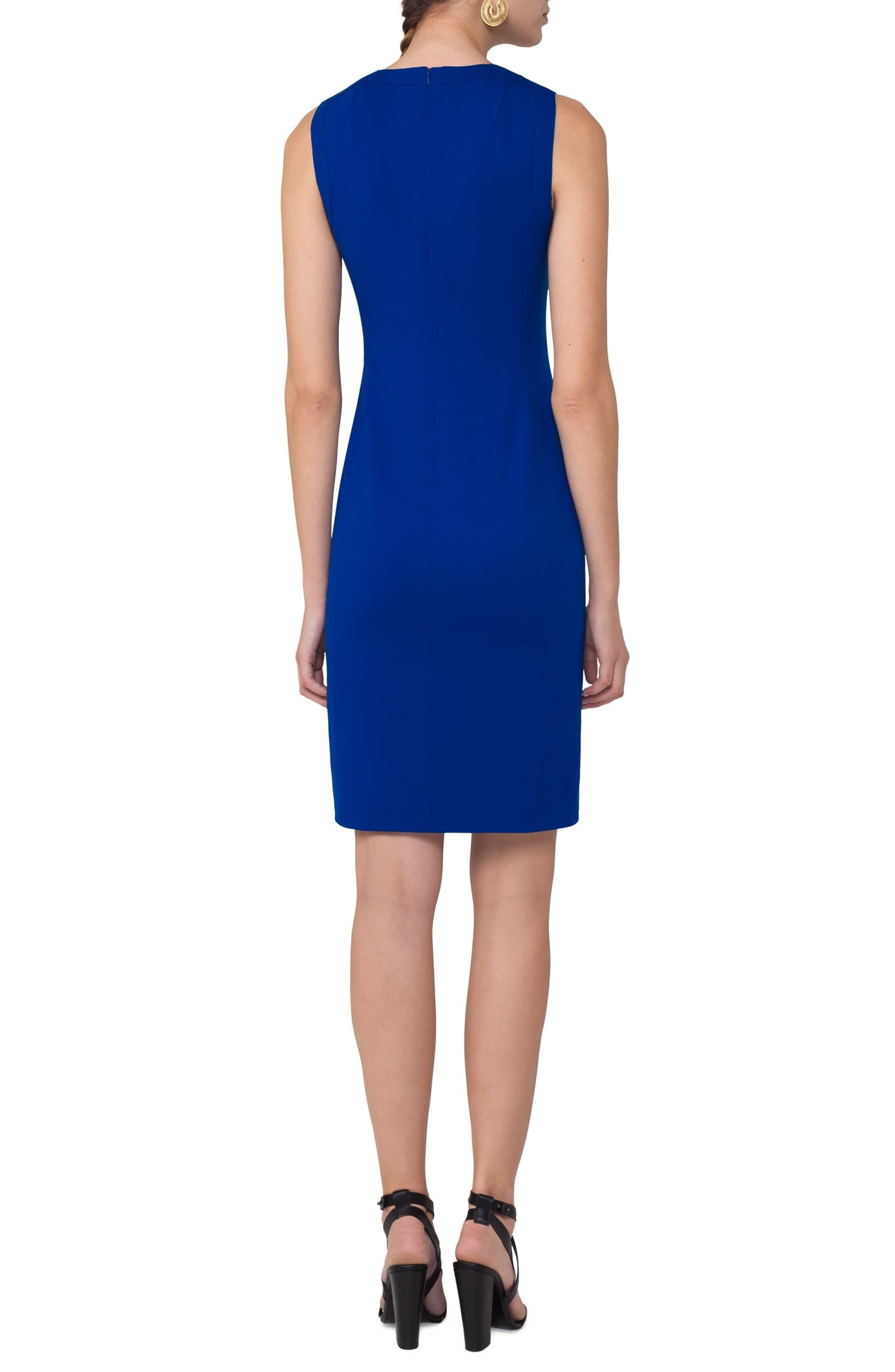 Cutout Neckline Jersey Dress,                             Alternate thumbnail 2, color,                             400