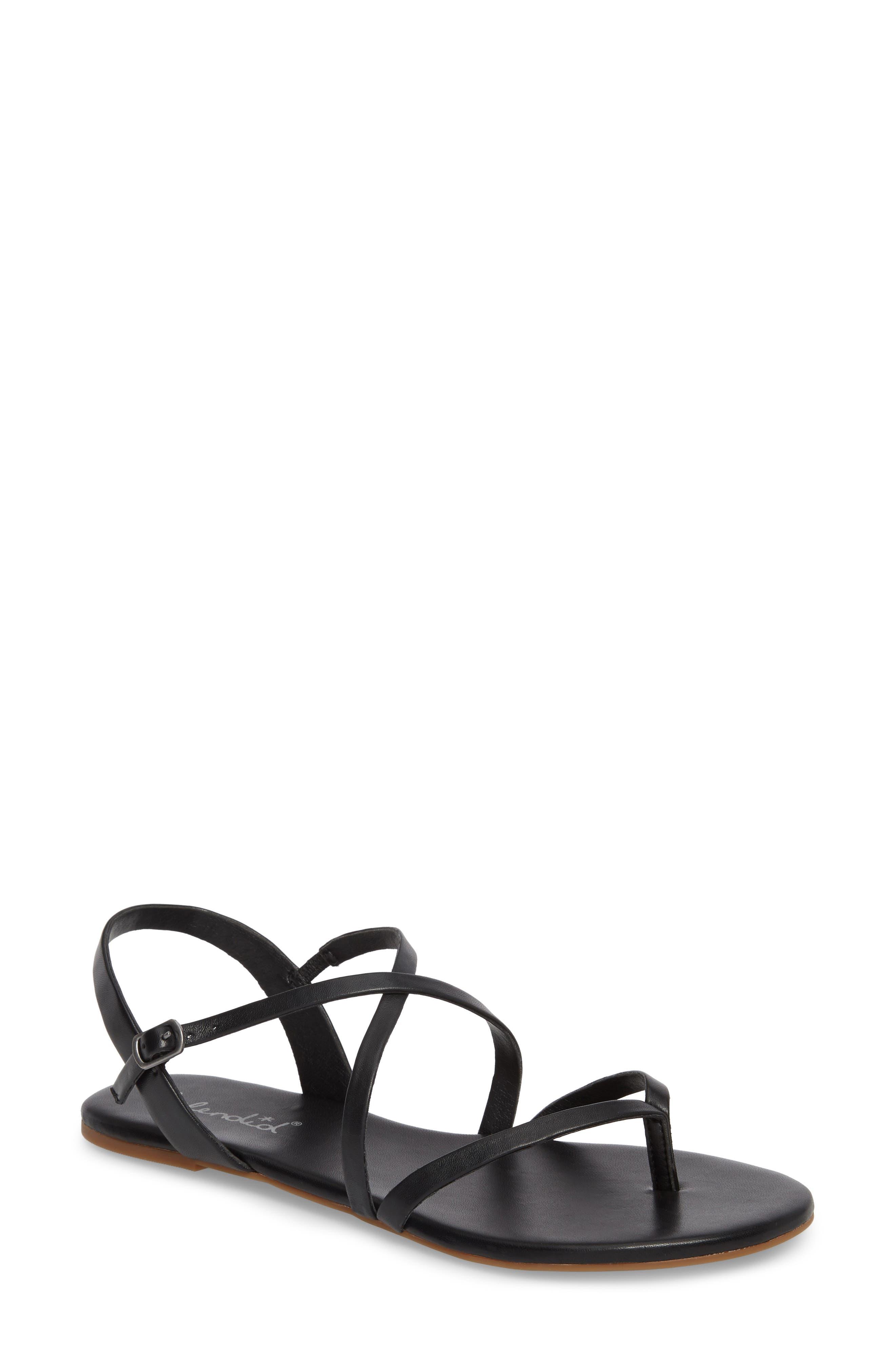Brett Strappy Flat Sandal,                         Main,                         color, 002
