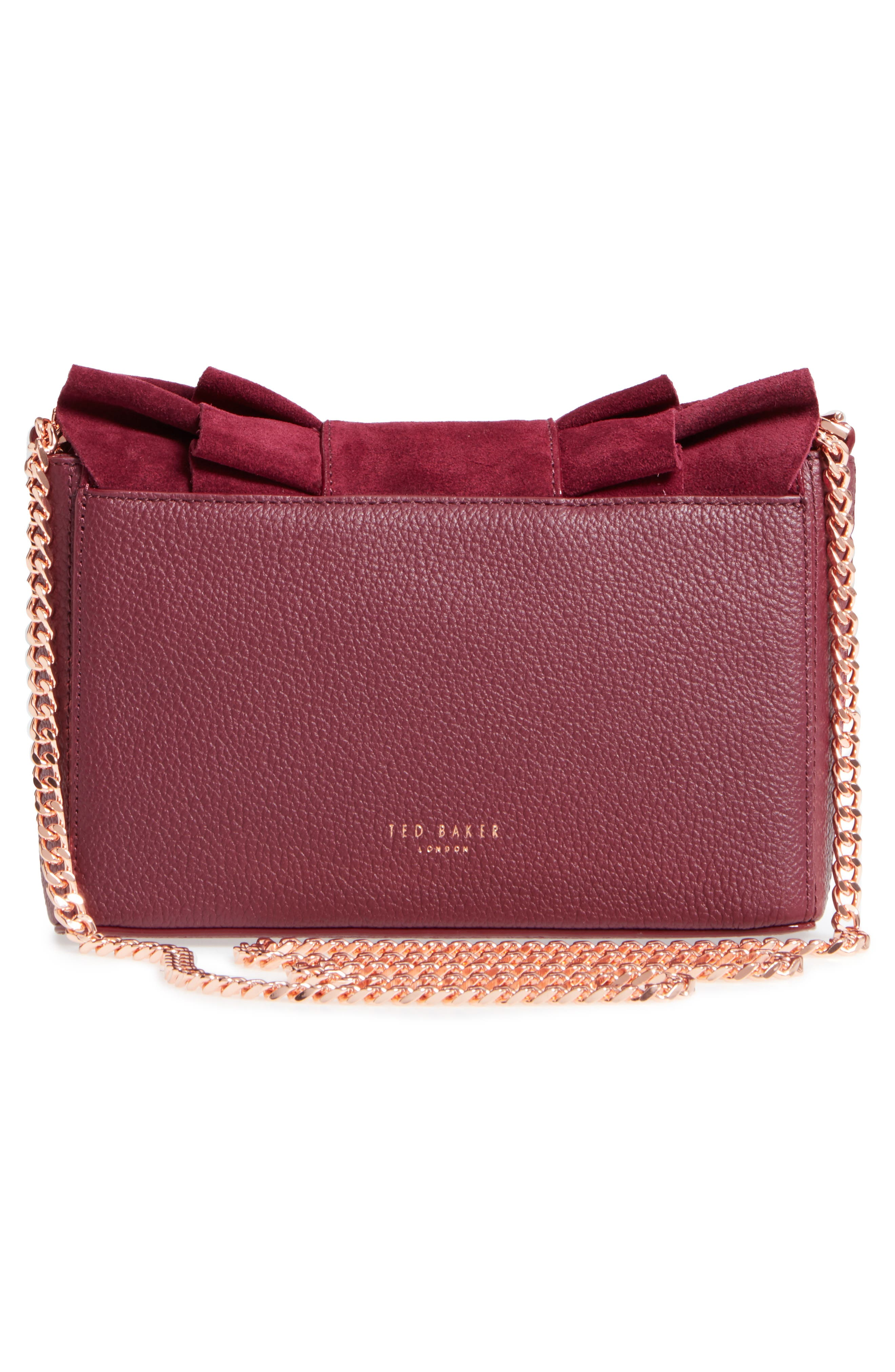 Nerinee Bow Buckle Clutch,                             Alternate thumbnail 8, color,