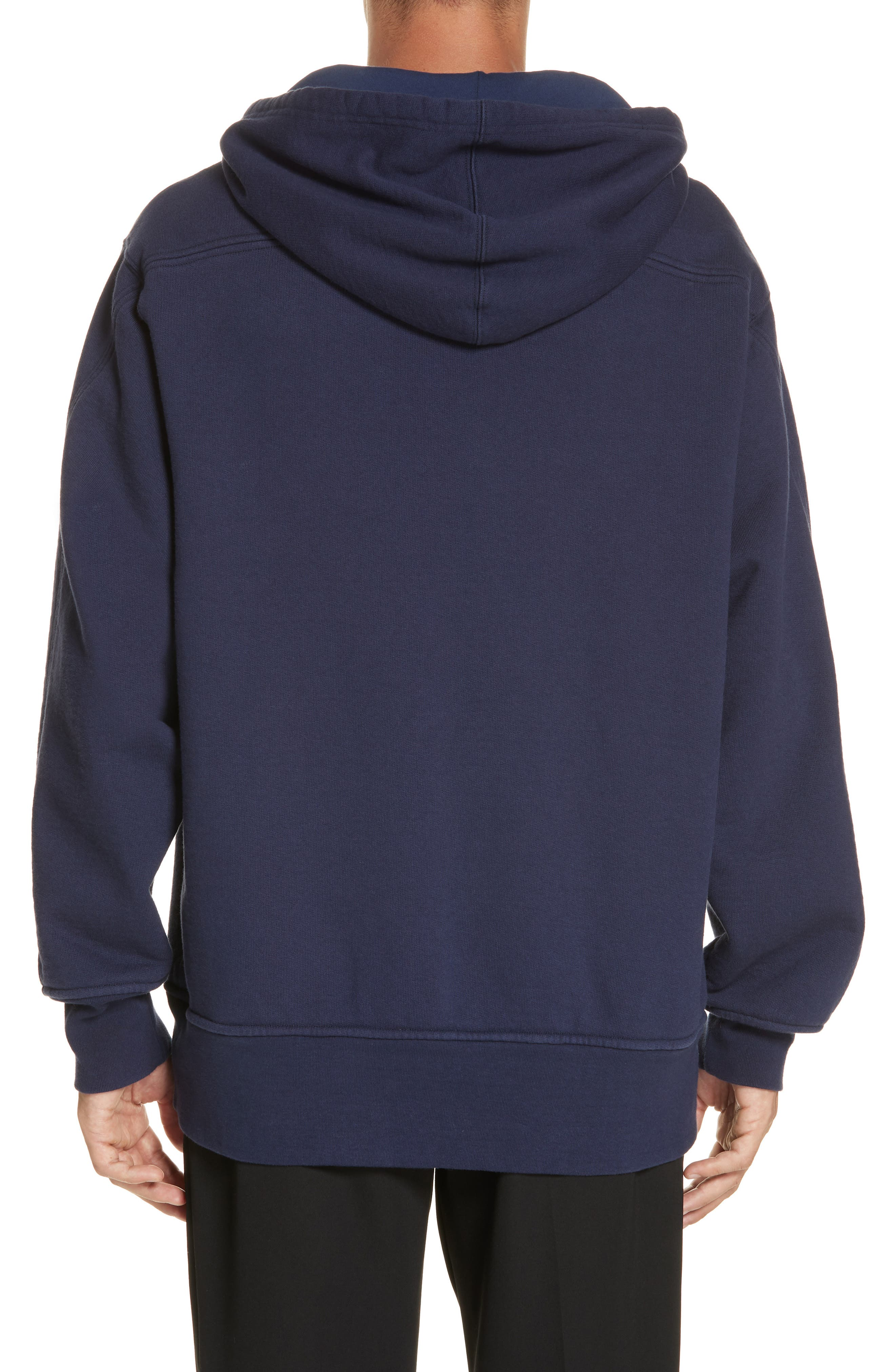 Oversize Hoodie,                             Alternate thumbnail 2, color,                             MARINE
