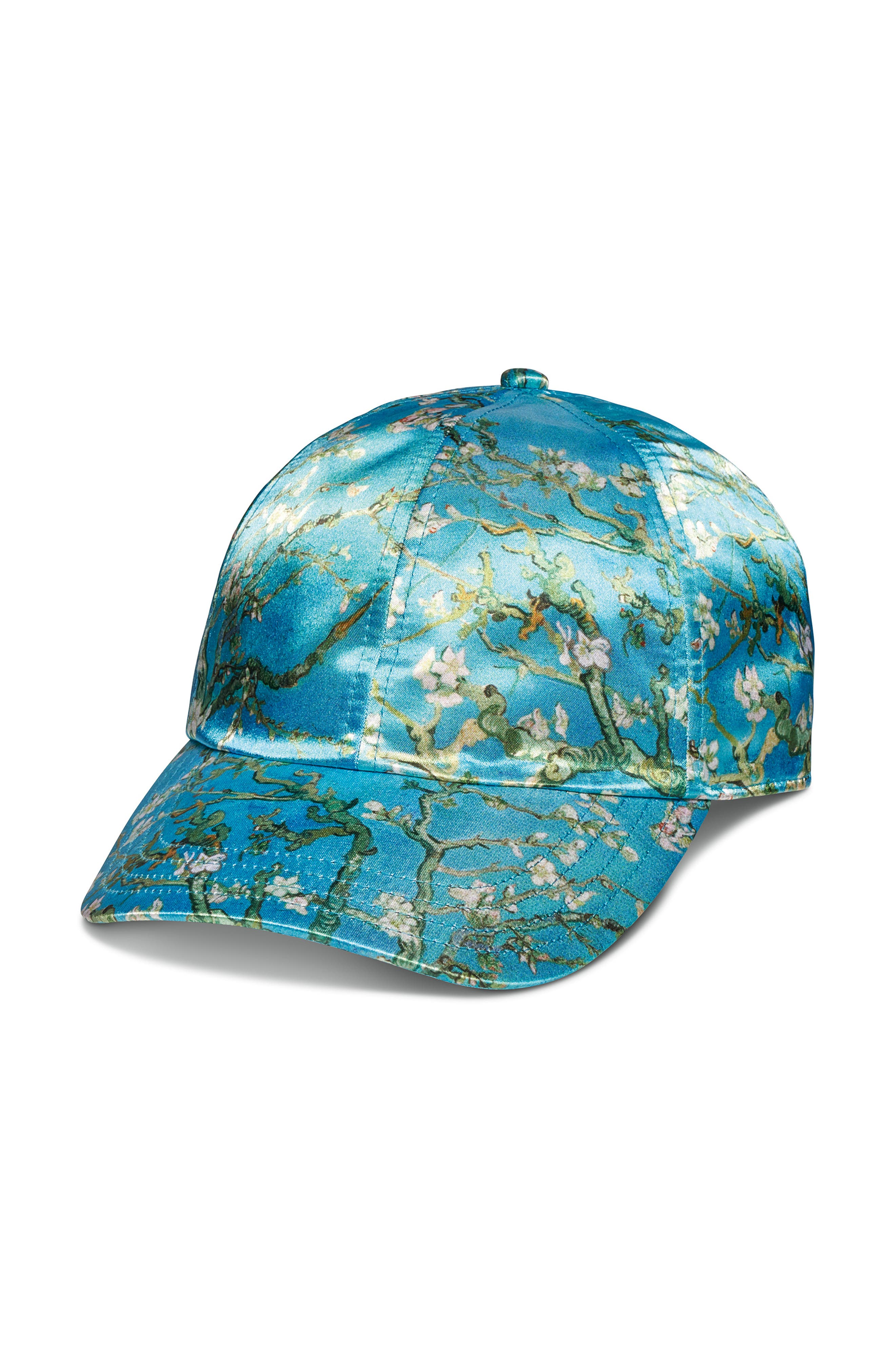 x Van Gogh Museum Almond Blossom Satin Baseball Cap,                         Main,                         color, 440