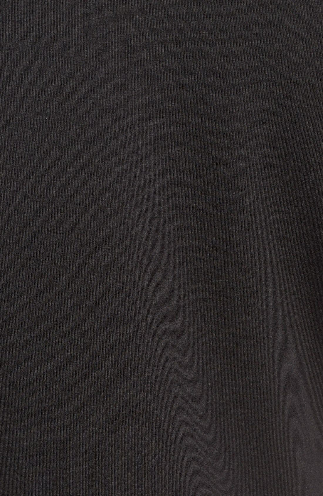 2-Pack Stretch Cotton Crewneck T-Shirt,                             Alternate thumbnail 5, color,                             BLACK