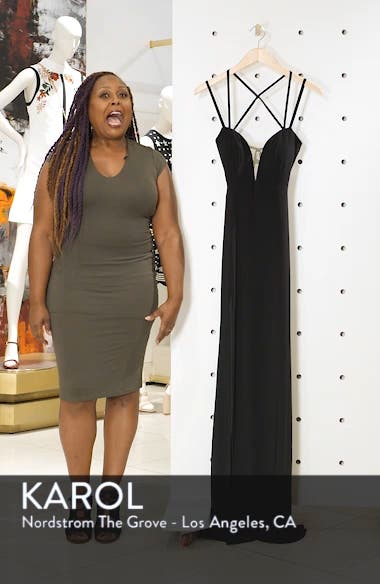 Open Back Jersey Gown, sales video thumbnail