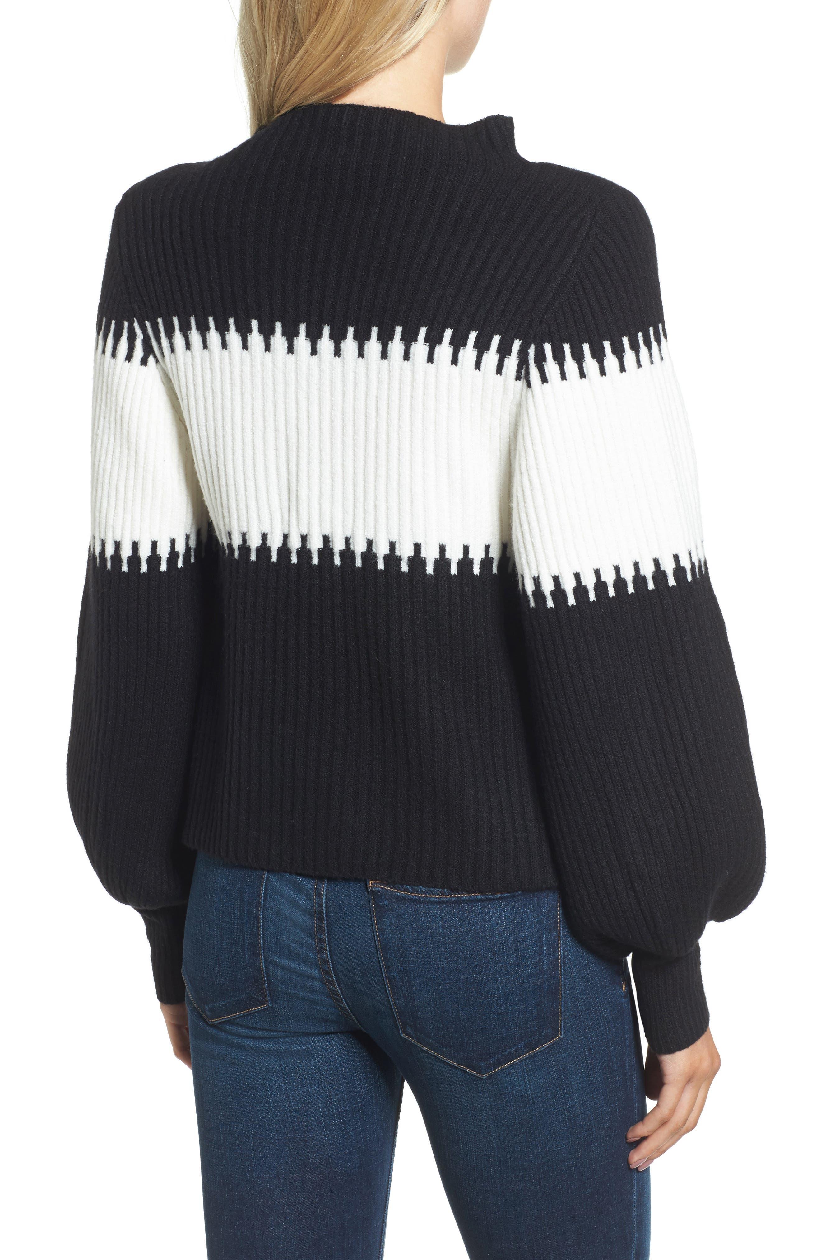 Sofia Puff Sleeve Sweater,                             Alternate thumbnail 2, color,                             001