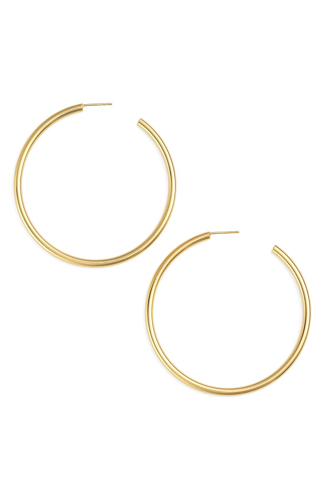 Tubular Hoop Earrings,                             Main thumbnail 1, color,                             GOLD