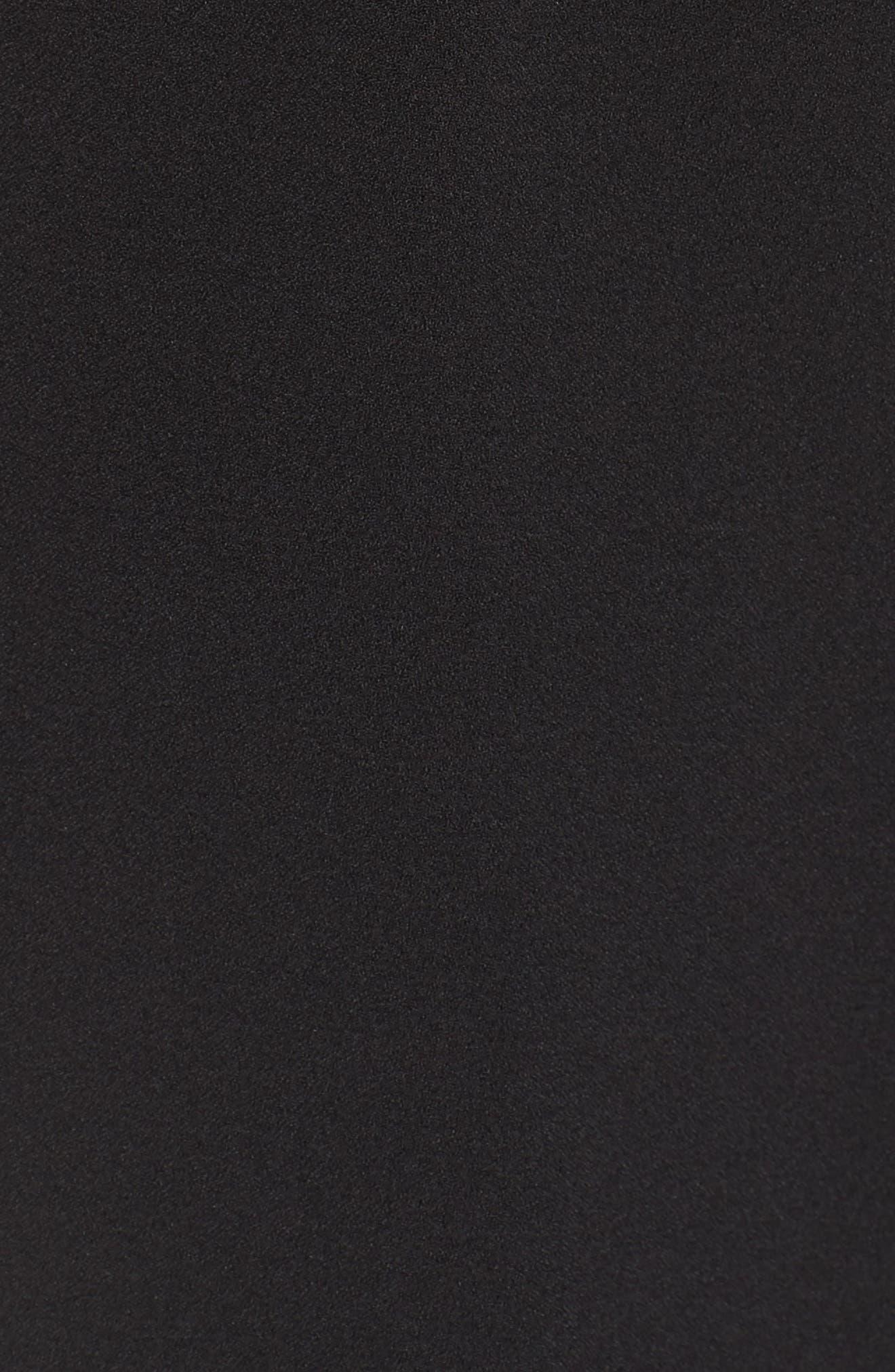 Off the Shoulder Wide Leg Jumpsuit,                             Alternate thumbnail 6, color,                             BLACK/ IVORY