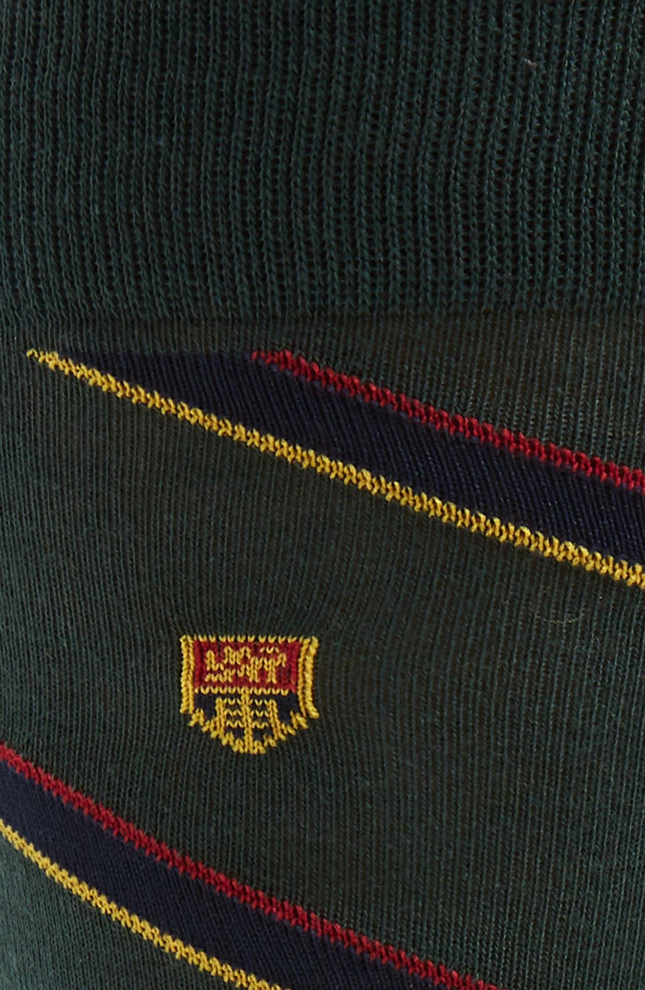 Ralph Lauren Heraldic Club 2-Pack Socks,                             Alternate thumbnail 2, color,                             HUNTER