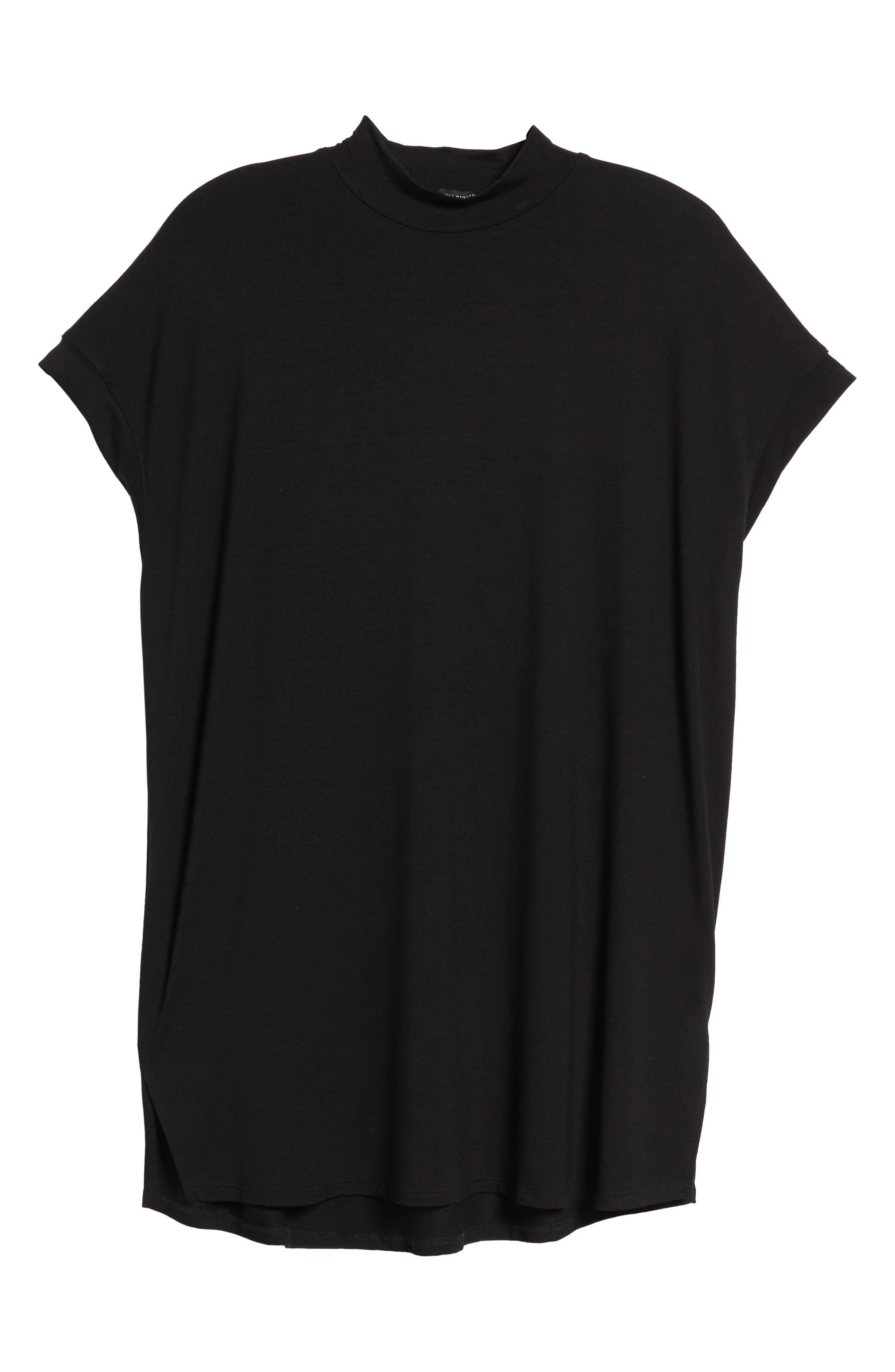 Mock Neck Wedge Top,                             Alternate thumbnail 6, color,                             001