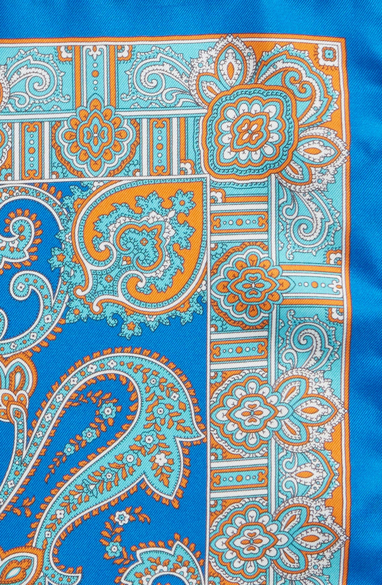 Paisley Silk Pocket Square,                             Alternate thumbnail 3, color,                             400