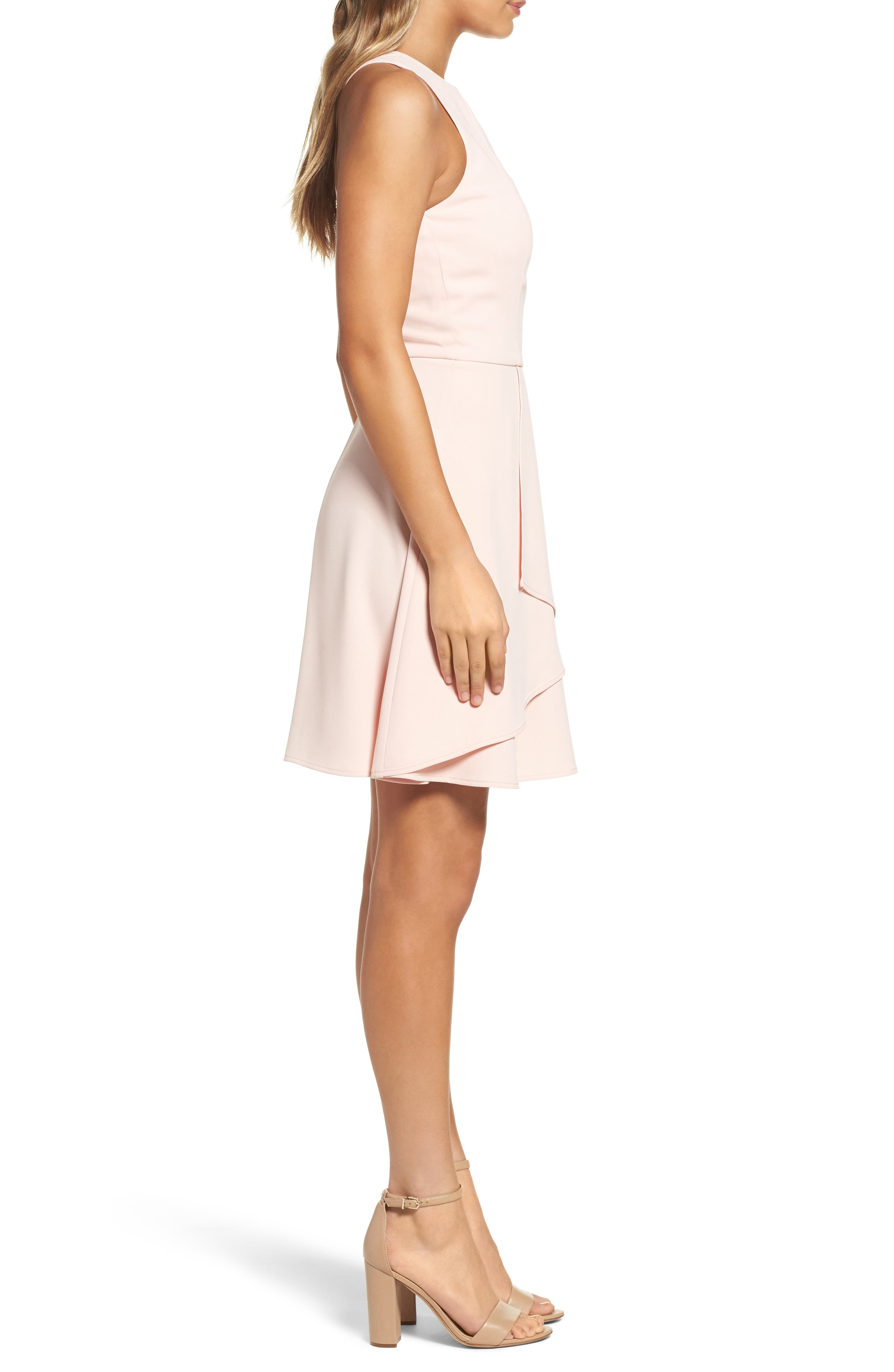 Athena Fit & Flare Dress,                             Alternate thumbnail 12, color,