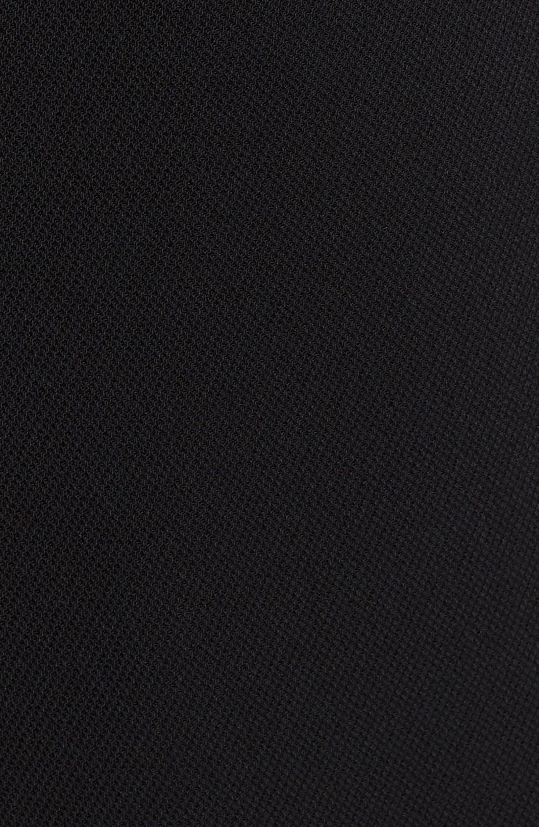 BRANDON MAXWELL,                             Pleat Strapless Bustier Jumpsuit,                             Alternate thumbnail 6, color,                             001