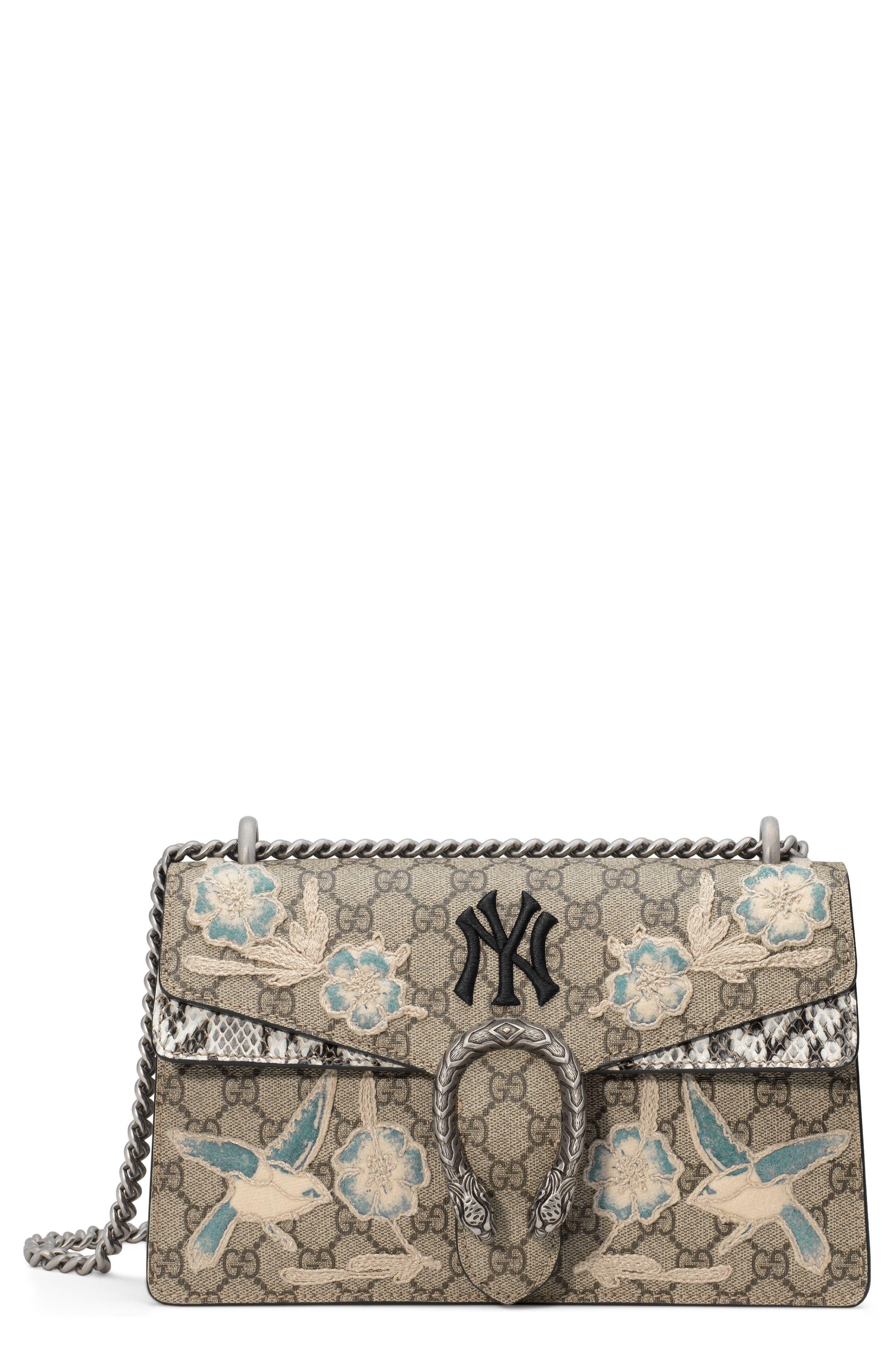 Medium Dionysus GG Supreme & Genuine Snakeskin Shoulder Bag,                             Main thumbnail 1, color,                             BEIGE EBONY/ ROCCIA MULTI