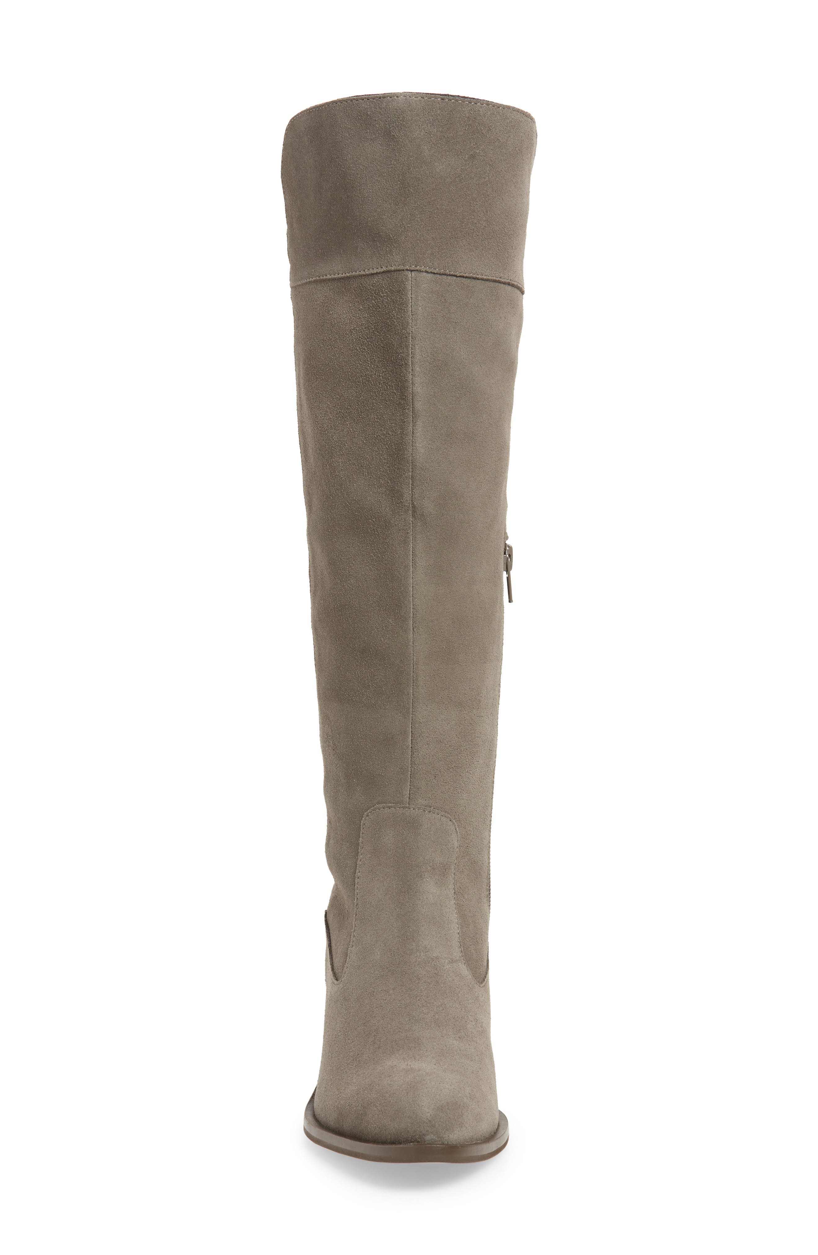 SOLE SOCIETY,                             Noamie Knee High Boot,                             Alternate thumbnail 4, color,                             LONDON RAIN SUEDE