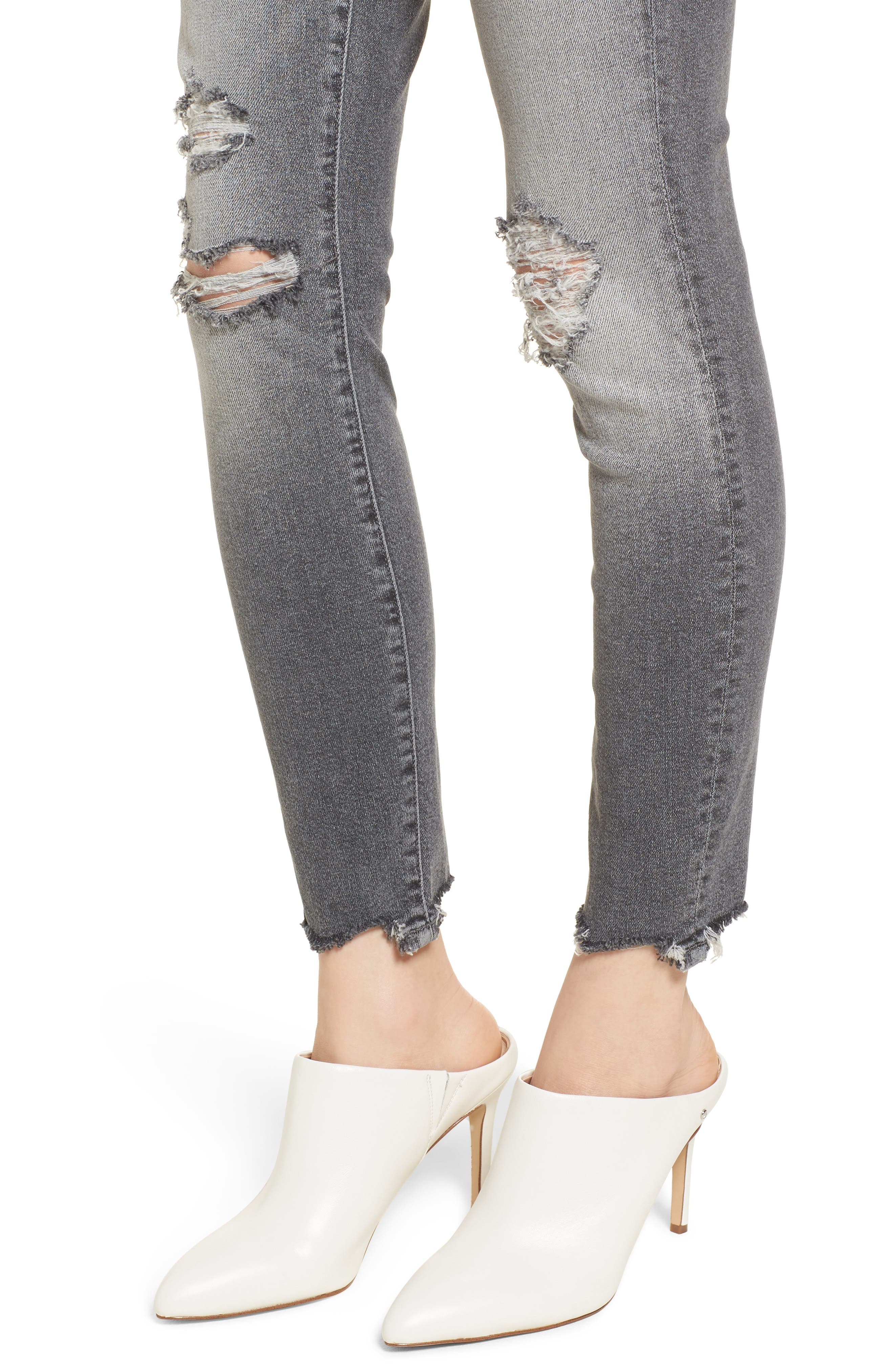 The Looker High Waist Ankle Skinny Jeans,                             Alternate thumbnail 4, color,                             021