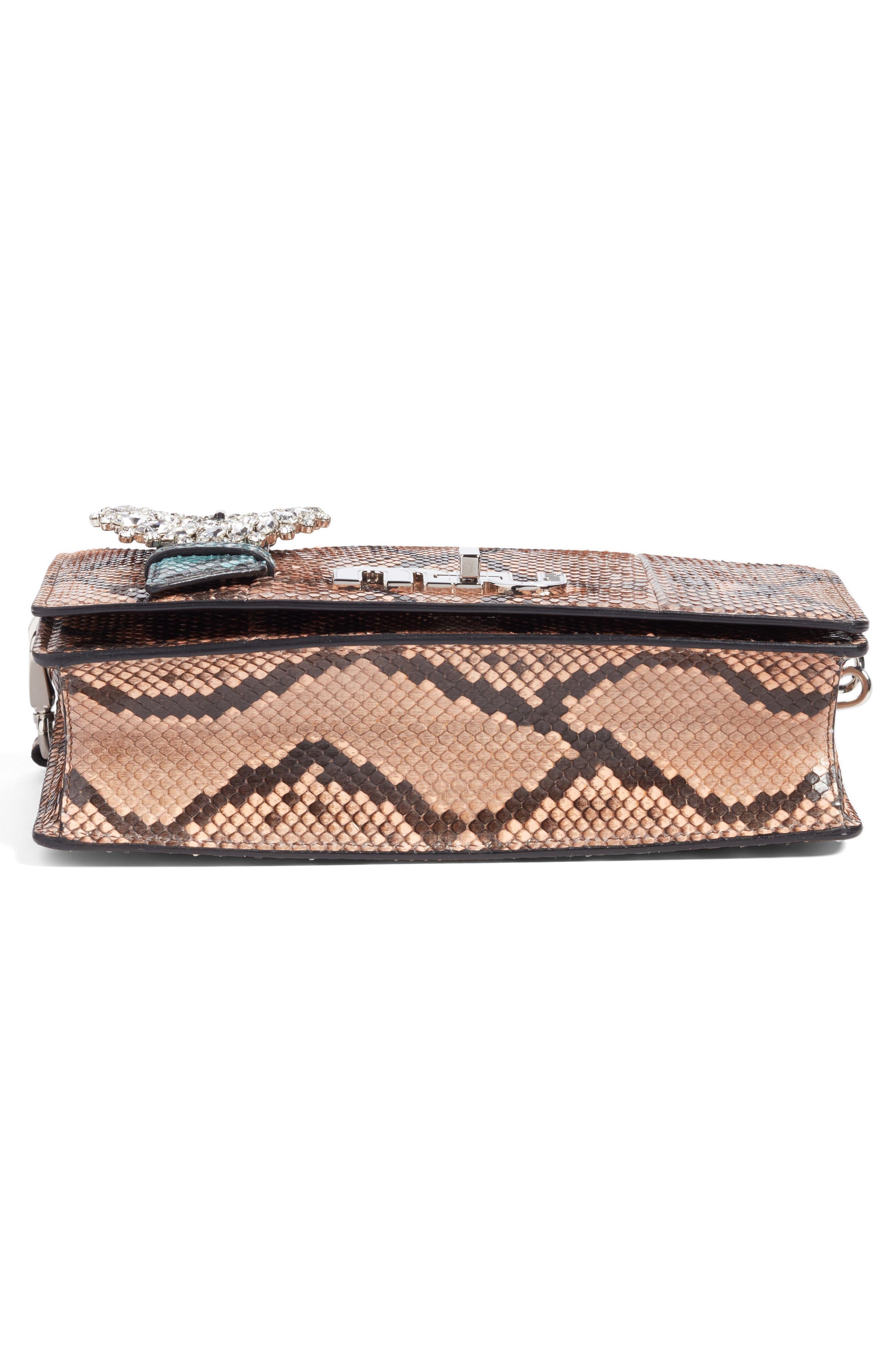 Genuine Python Shoulder Bag,                             Alternate thumbnail 12, color,