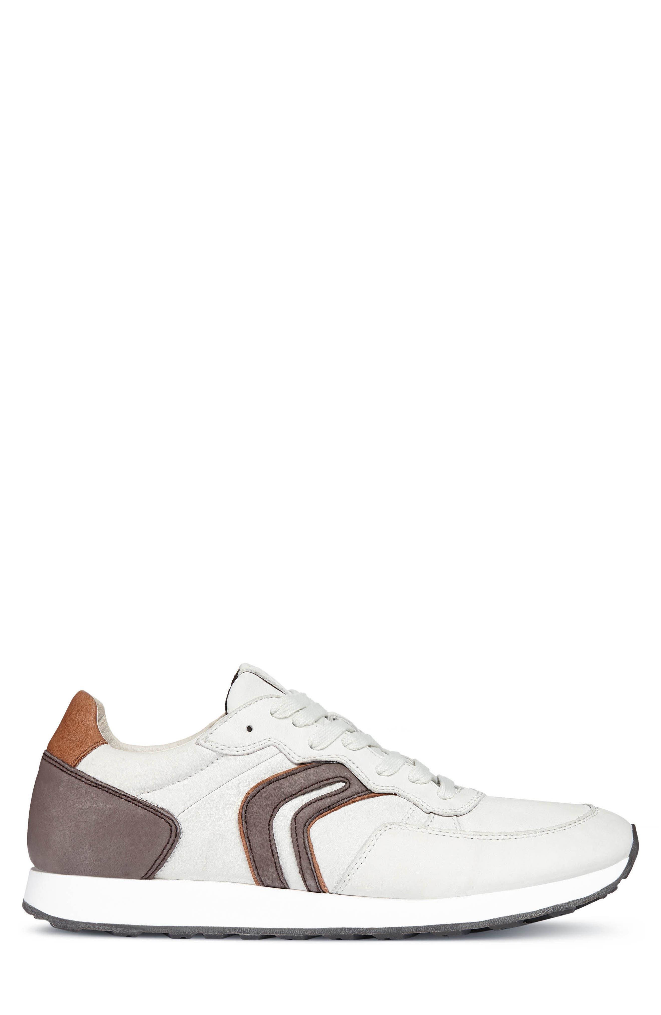 Vincint 1 Sneaker,                             Alternate thumbnail 3, color,                             WHITE/ DARK COFFEE LEATHER