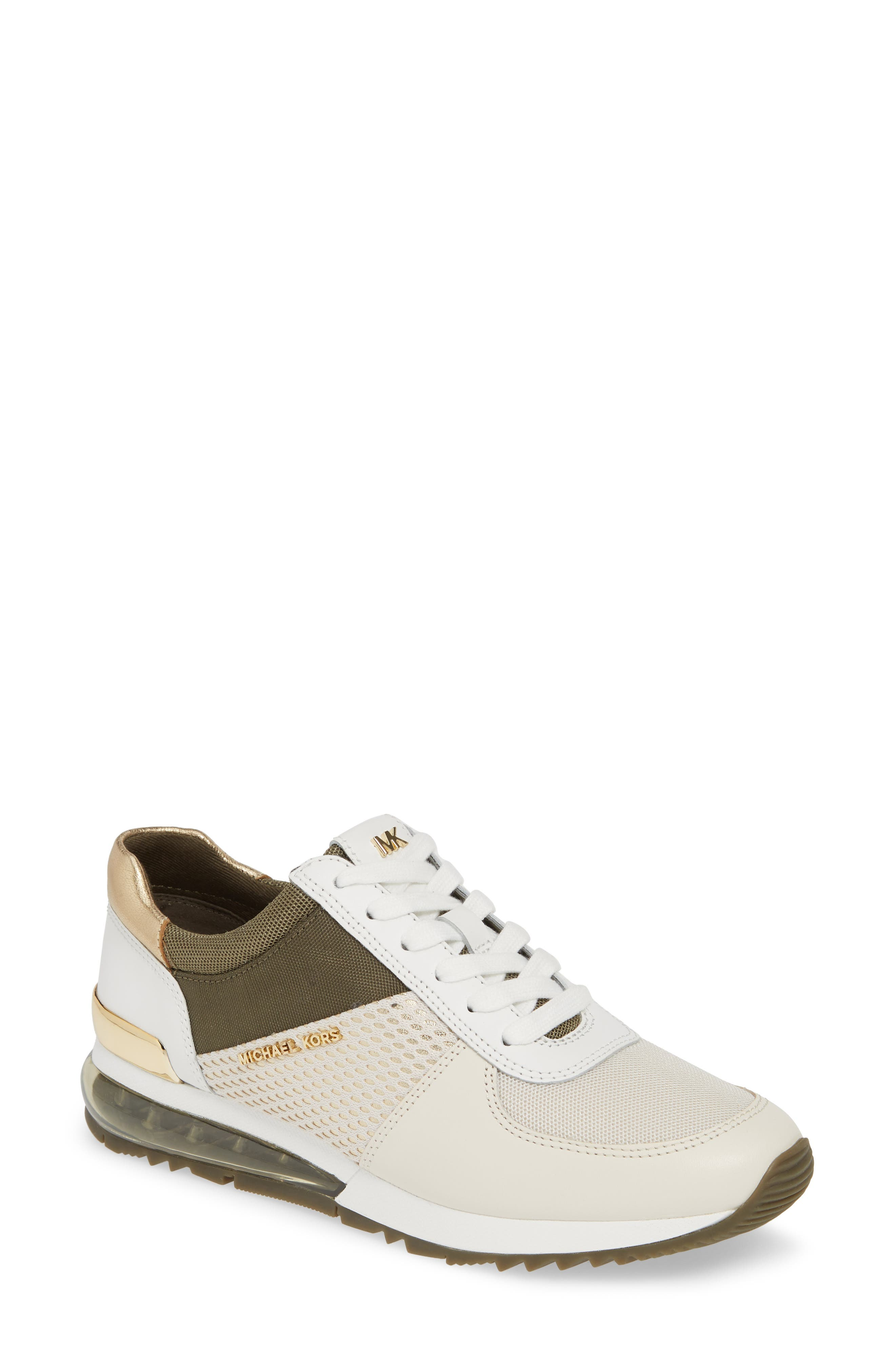 99ff562893a7 Michael Michael Kors Women S Allie Extreme Trainer Sneakers In Cream  Gold