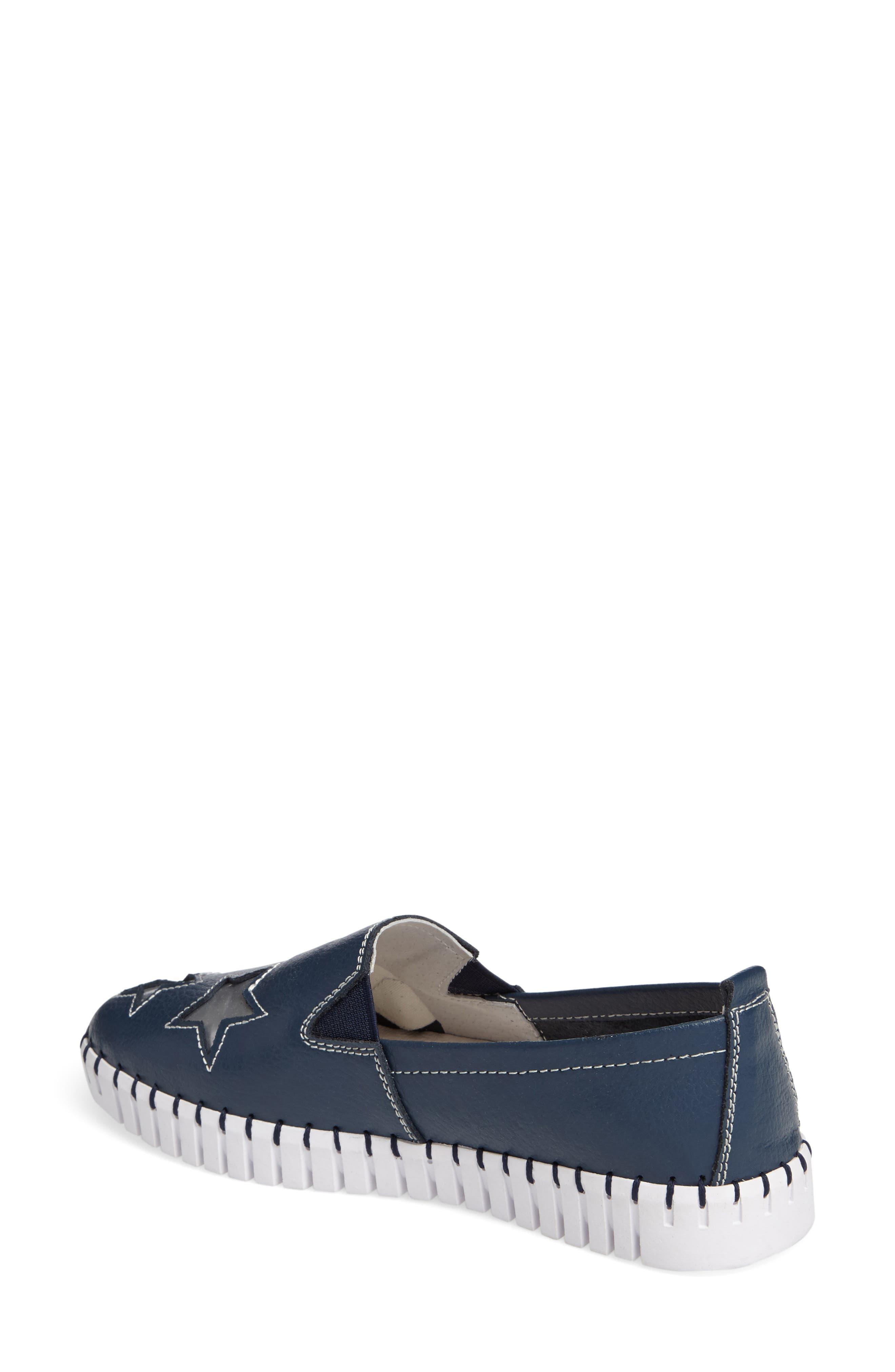 TW37 Slip-On Sneaker,                             Alternate thumbnail 2, color,                             NAVY LEATHER