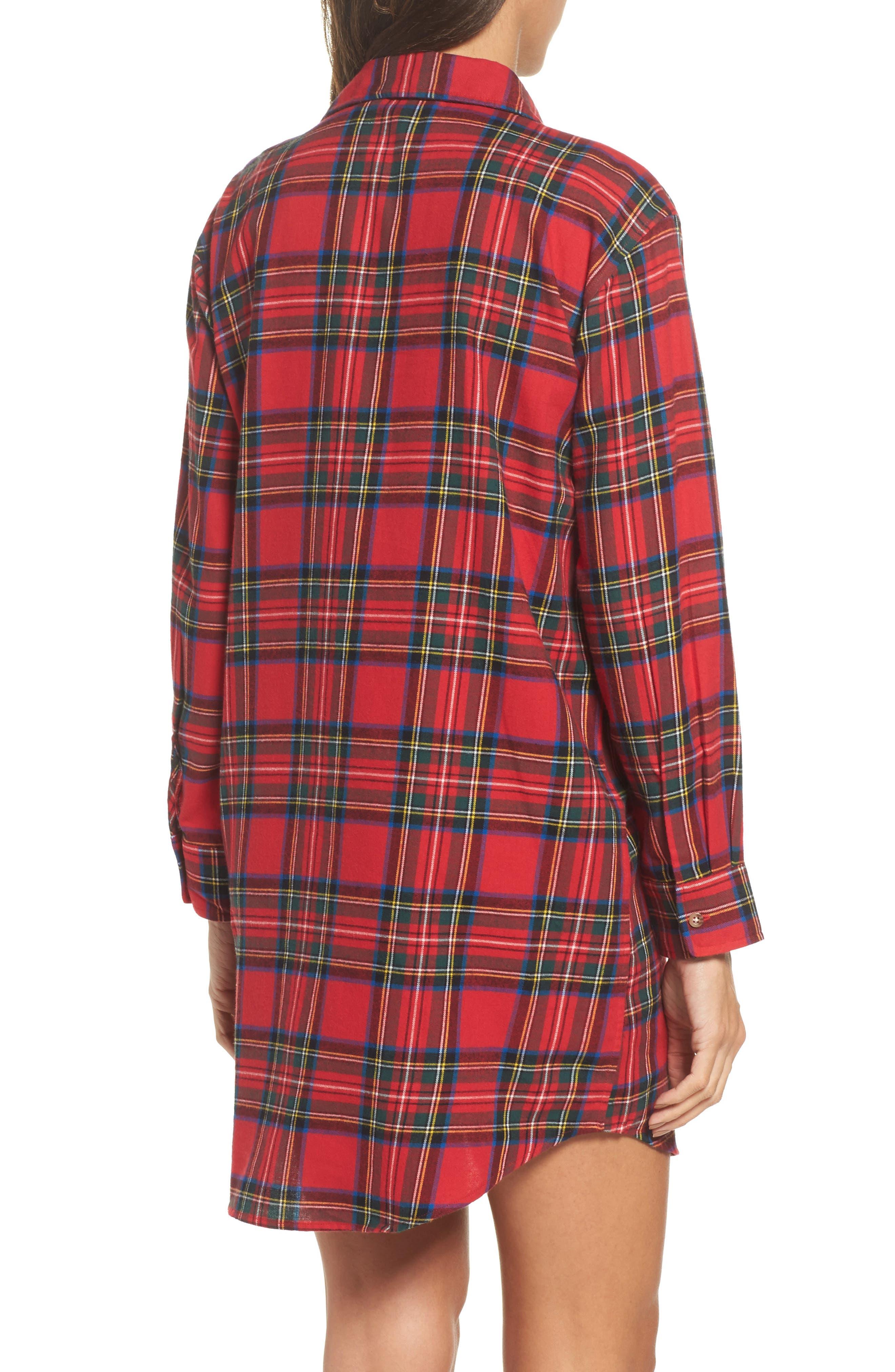 Flannel Sleep Shirt,                             Alternate thumbnail 6, color,