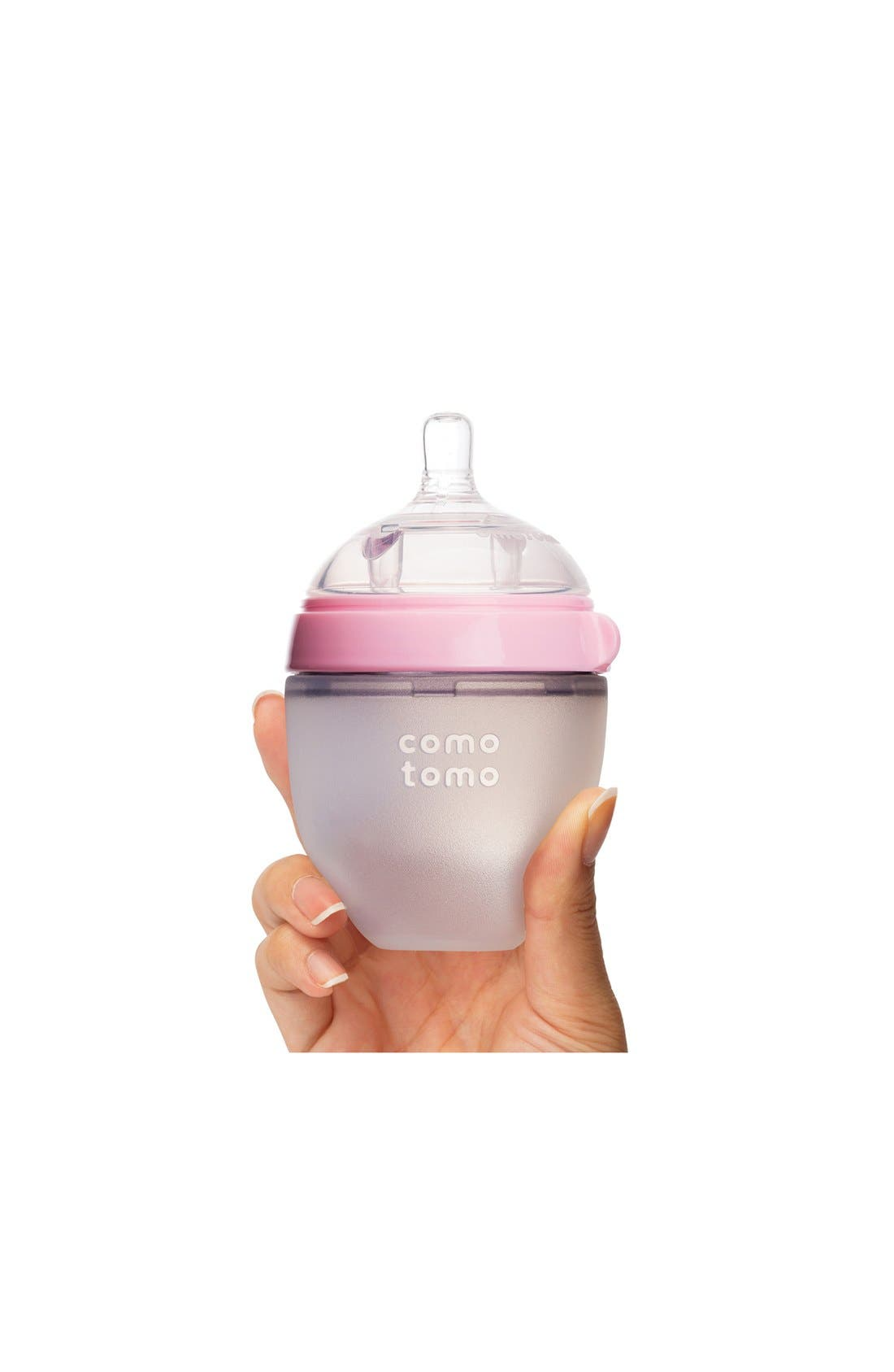 Slow Flow Baby Bottle,                             Alternate thumbnail 2, color,                             PINK