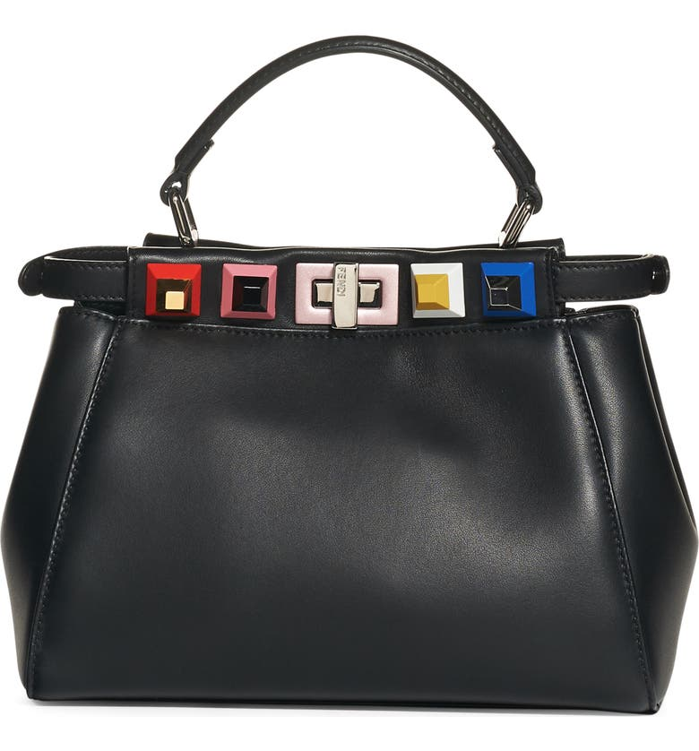 5ae84b8f6c Fendi Mini Peekaboo Studded Leather Bag