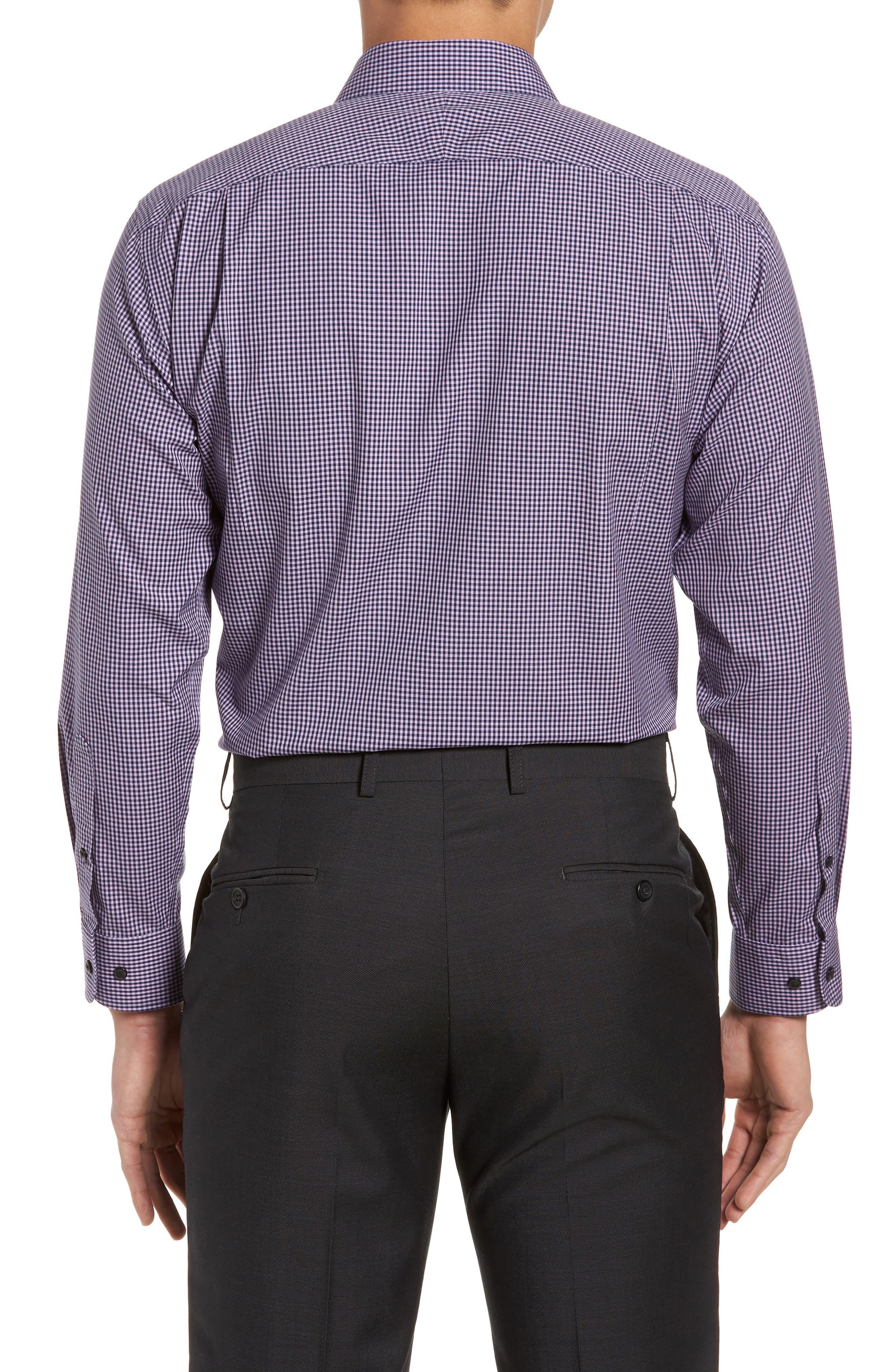 Smartcare<sup>™</sup> Trim Fit Check Dress Shirt,                             Alternate thumbnail 11, color,