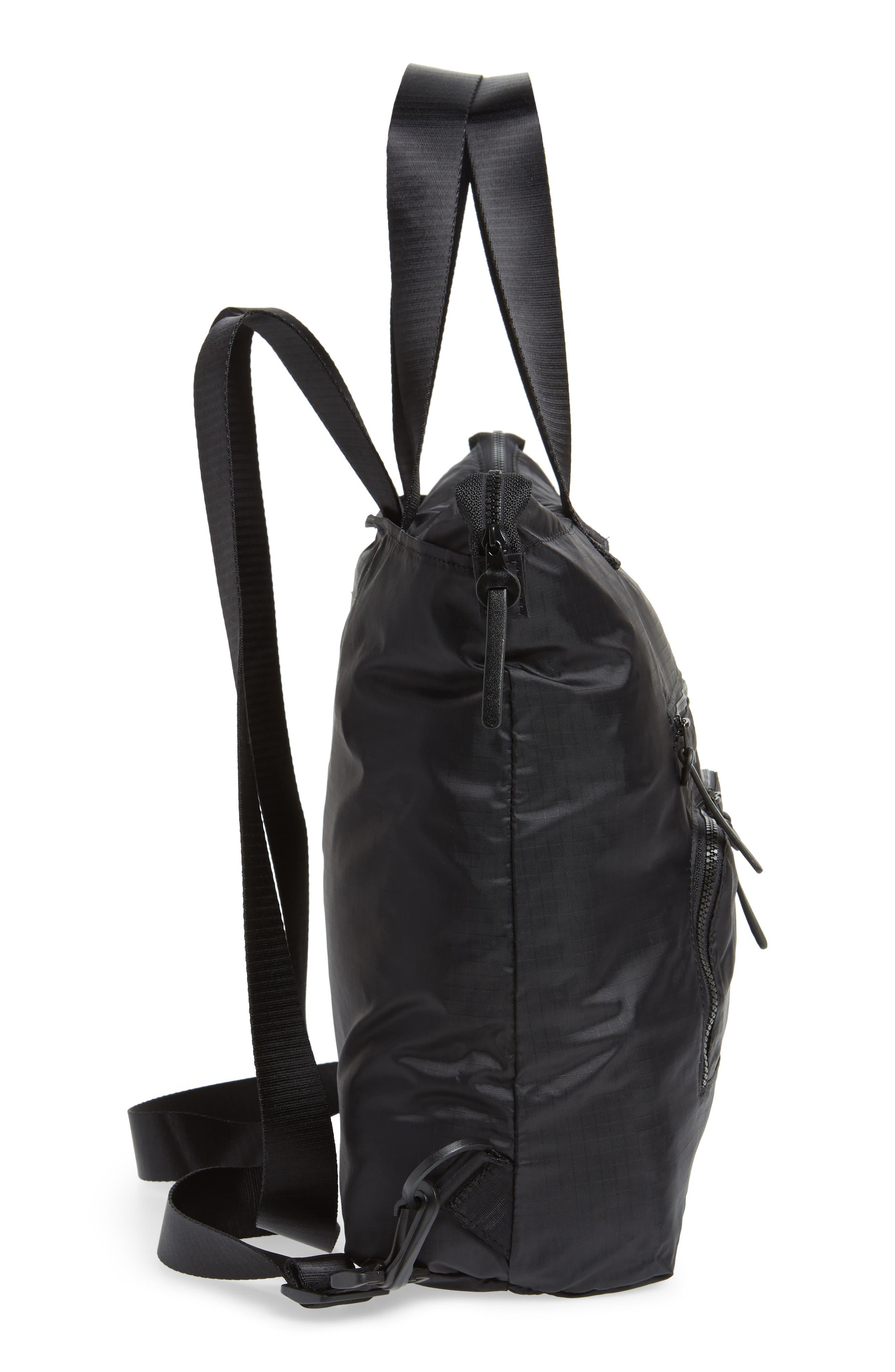 Packable Convertible Backpack,                             Alternate thumbnail 6, color,                             BLACK