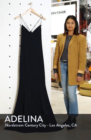 Luna Stretch Crepe Gown, sales video thumbnail