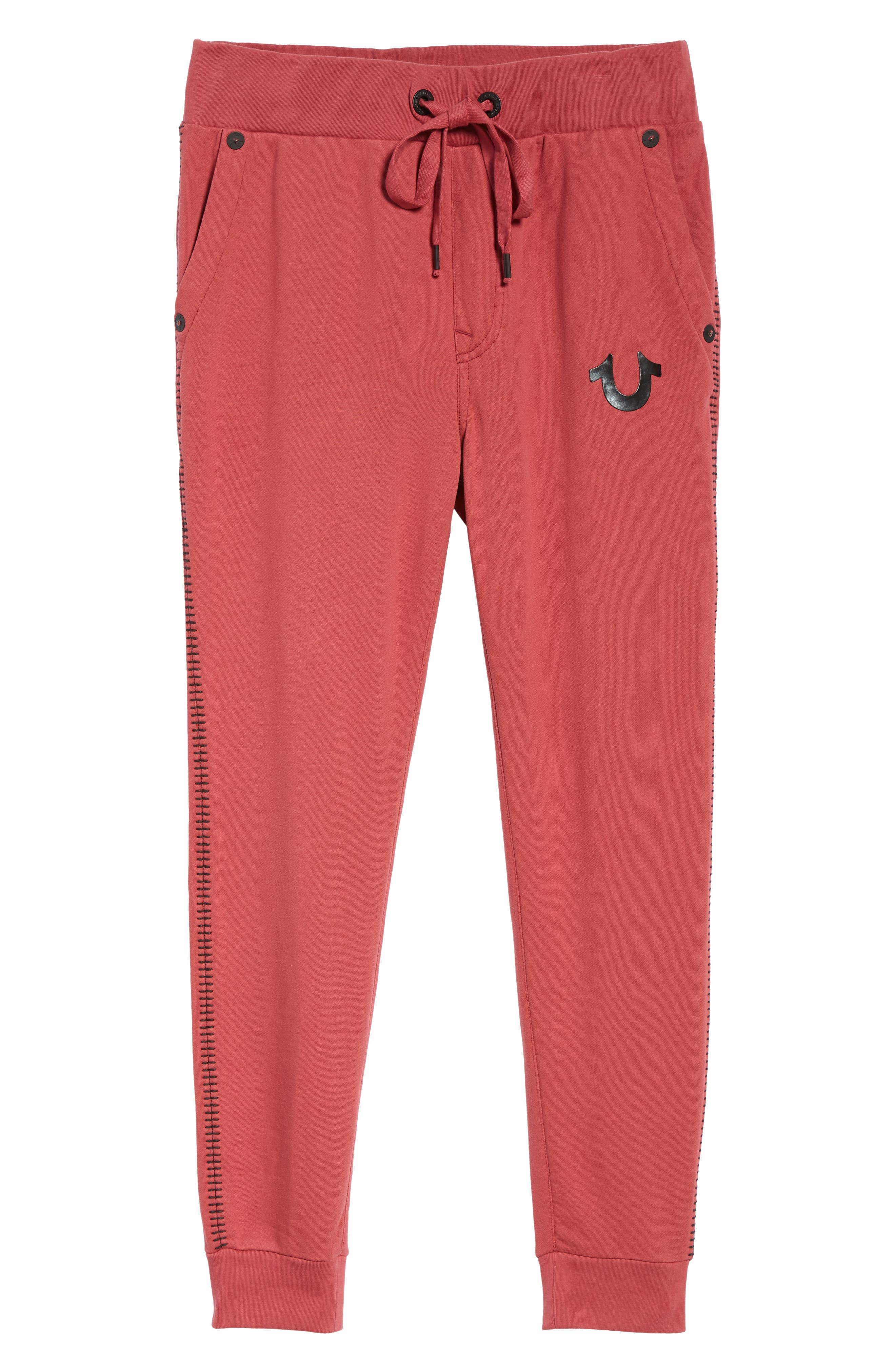 Metallic Buddha Sweatpants,                             Alternate thumbnail 6, color,                             GOTH RED