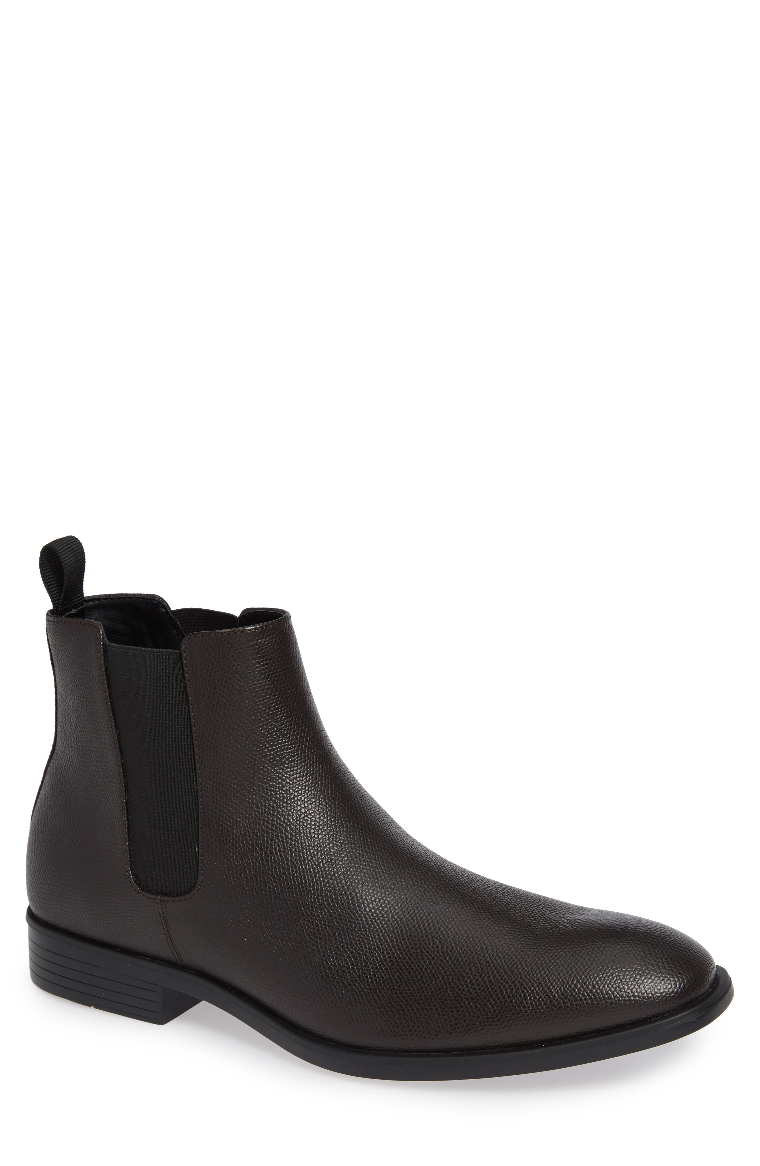 Corin Chelsea Boot,                         Main,                         color, DARK BROWN LEATHER