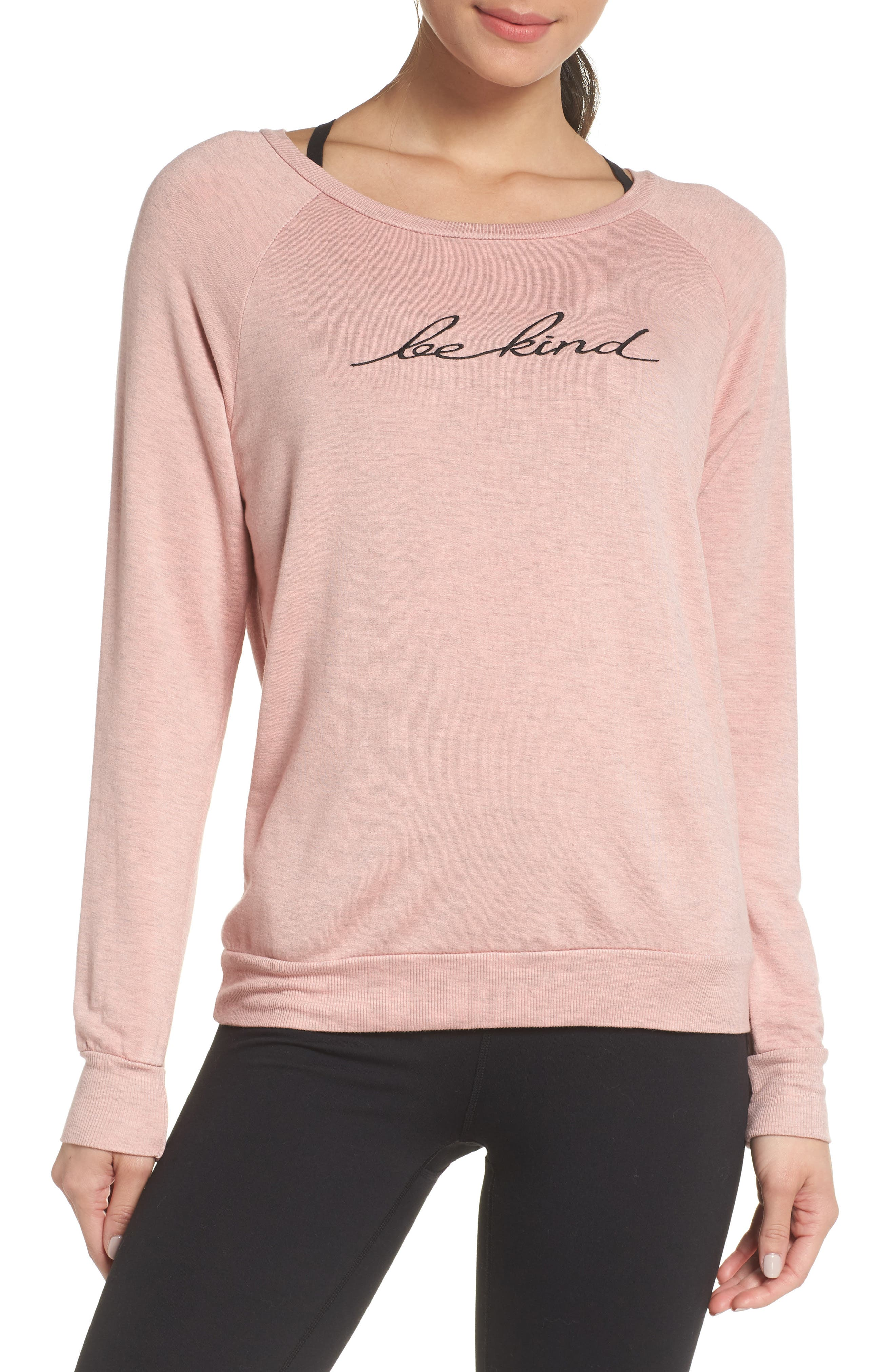 Be Kind Pullover, Main, color, CHALK PINK