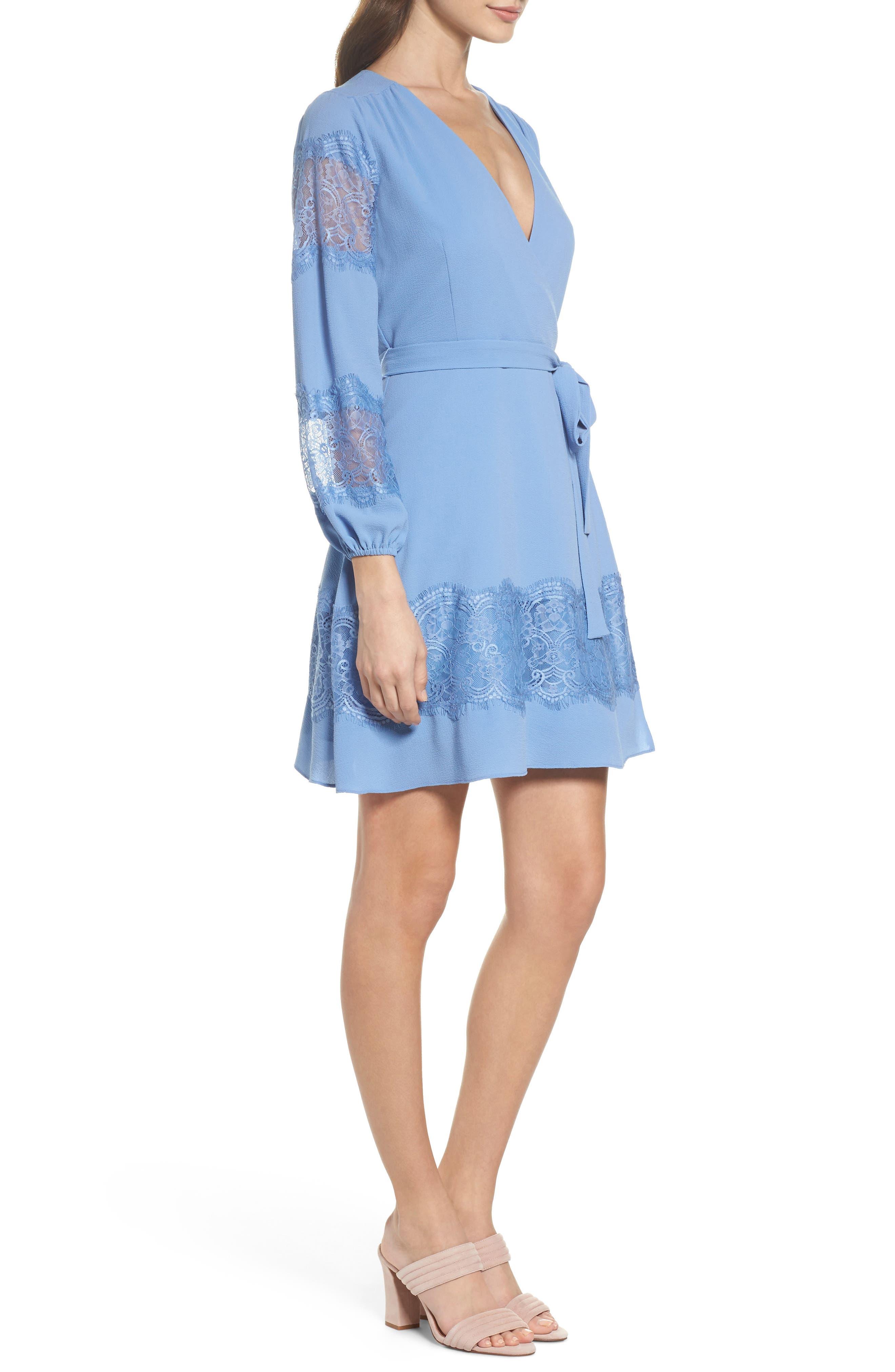Lauryl Wrap Dress,                             Alternate thumbnail 3, color,                             450