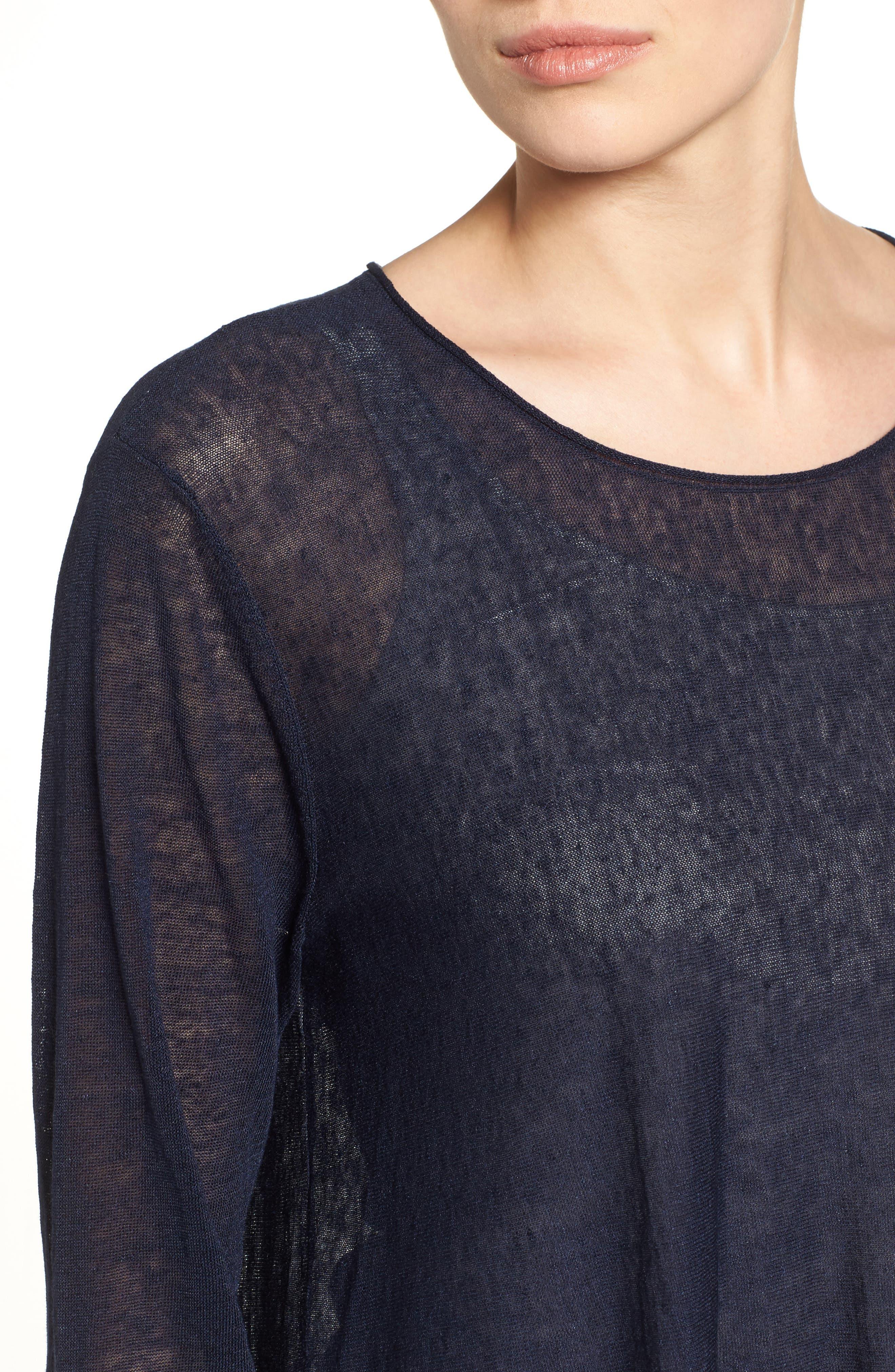 Organic Linen Blend Swing Sweater,                             Alternate thumbnail 32, color,