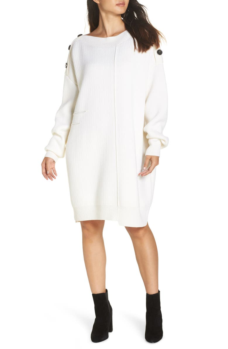Marik Crème Sweater Dress Main Color
