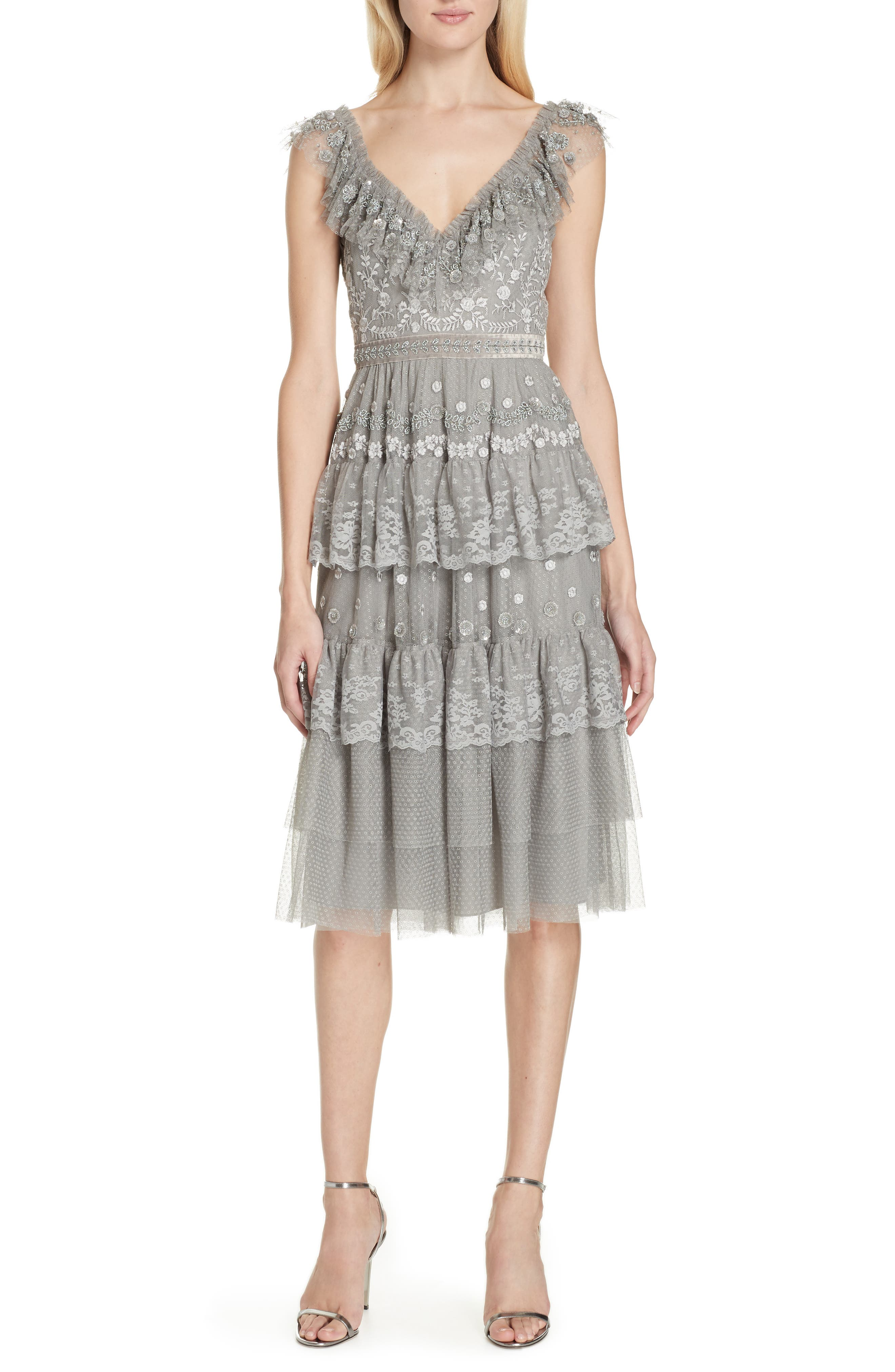 Cinderella Cami Dress,                         Main,                         color, ASH