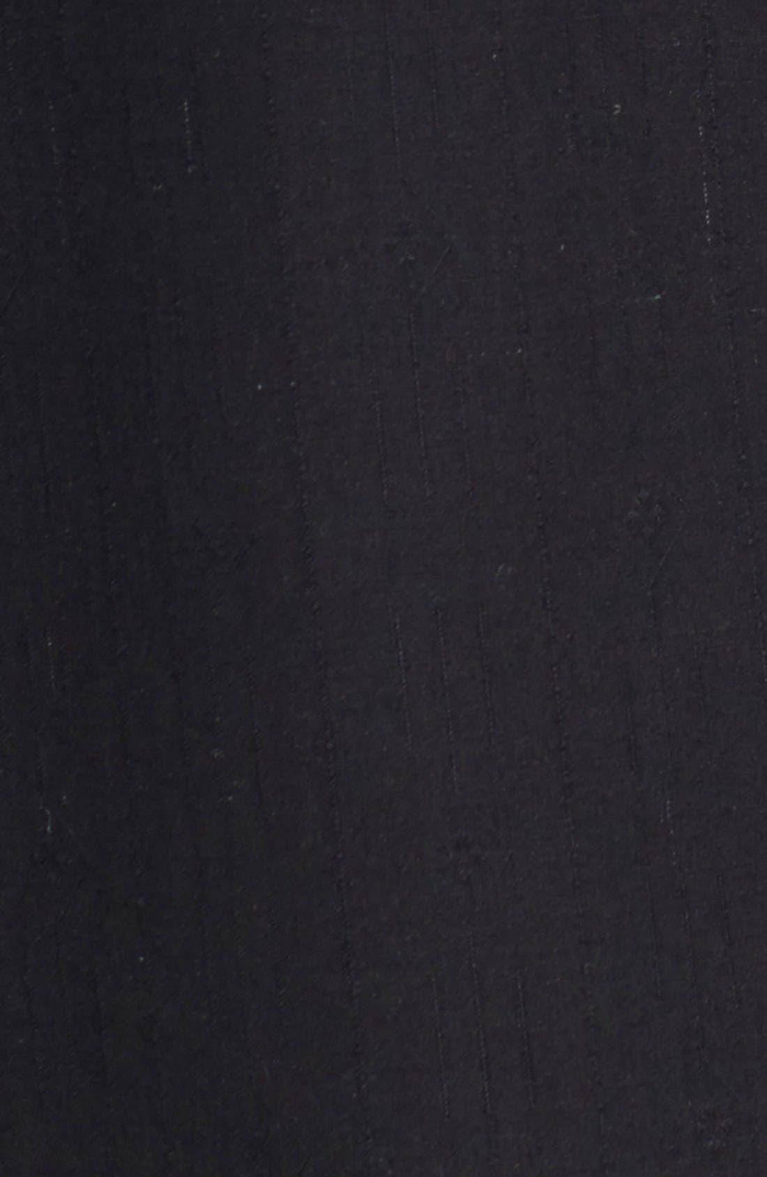 Java Dobby Original Fit Silk Camp Shirt,                             Alternate thumbnail 5, color,                             001