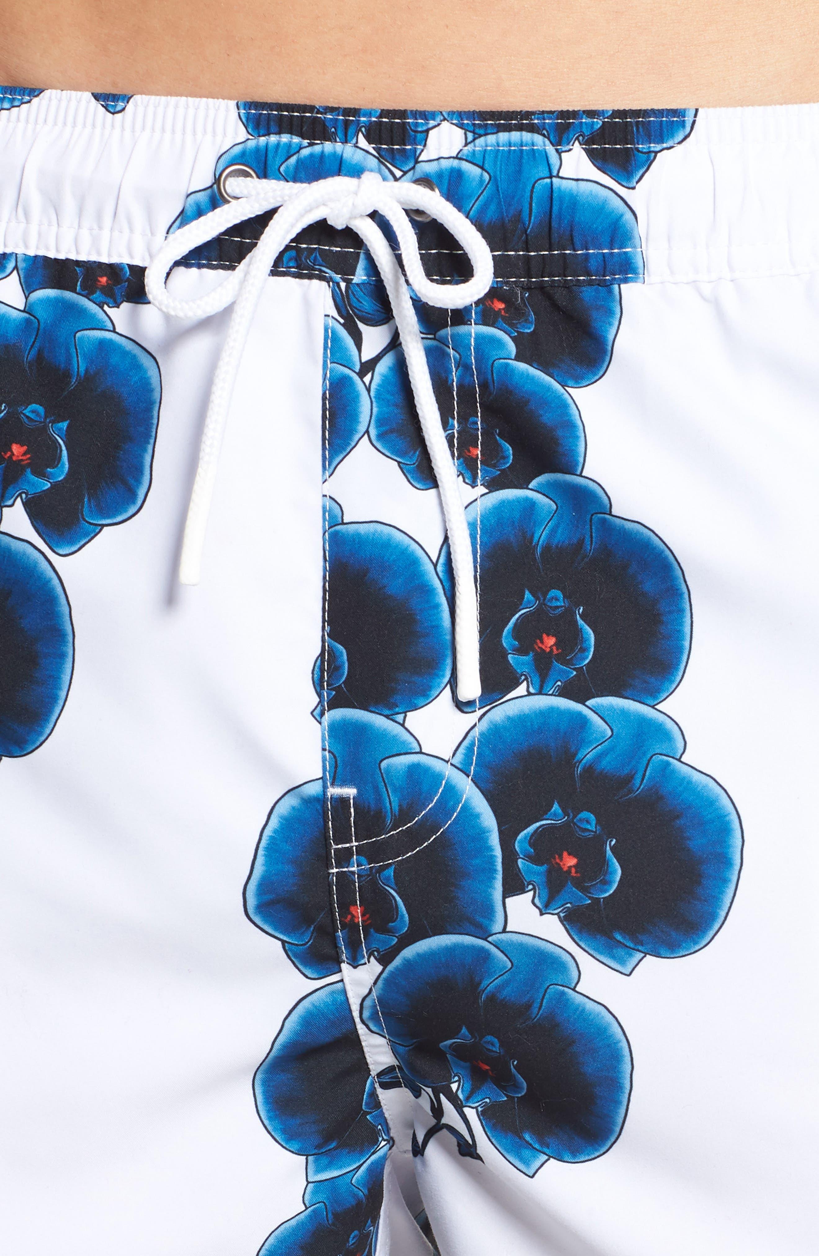 Timothy Orchid Swim Shorts,                             Alternate thumbnail 4, color,                             110